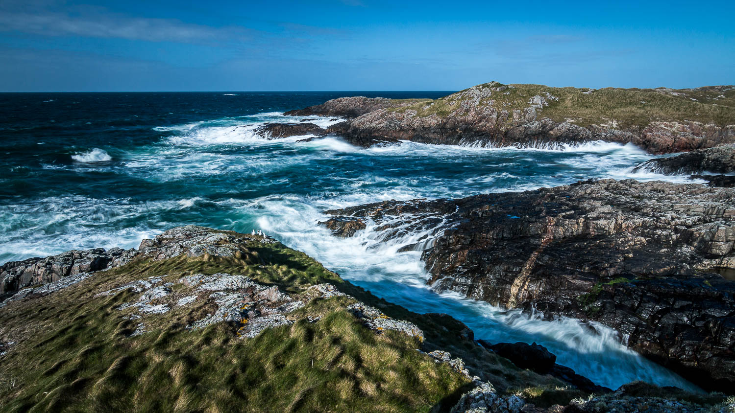 Sloc a' Ghille Mhoir, the rocky north coast between Balevullin and The Green.