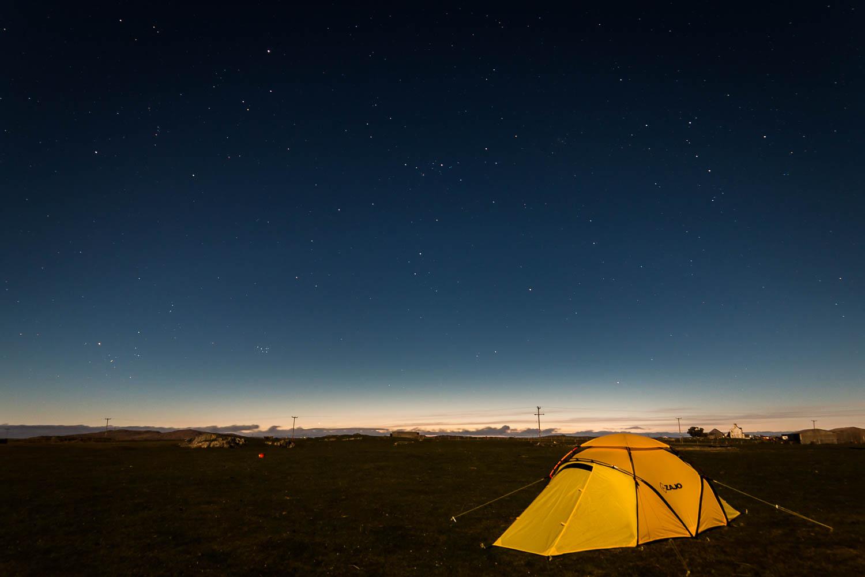 Under the stars - but no Milky Way unfortunately.