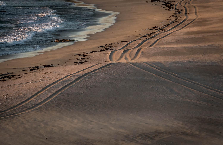 Tracks in the sand, Balevullin Beach.