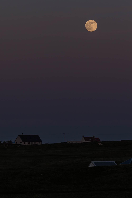 Moonrise over Tiree.