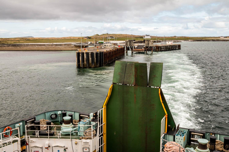 Departure -Leaving Gott Bay.