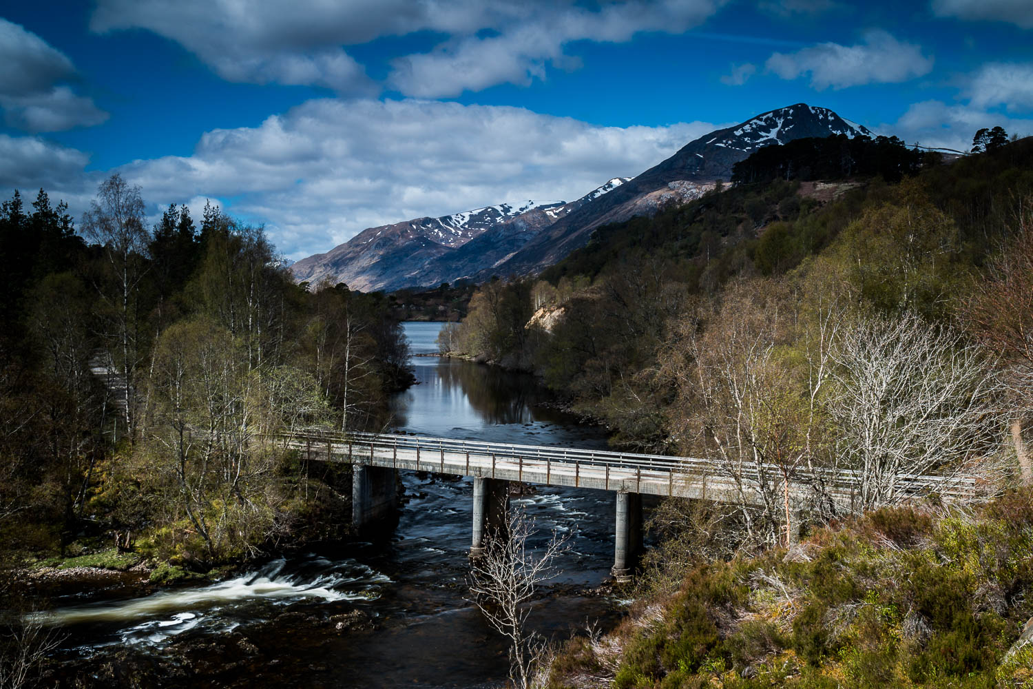 Looking along the River Affric with Sgùrr Na Lapaich on the right.