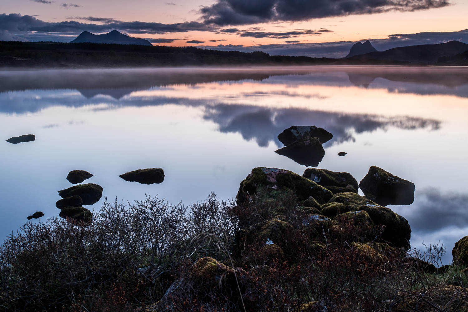 Loch Barralan with Suilven and Cùl Mor