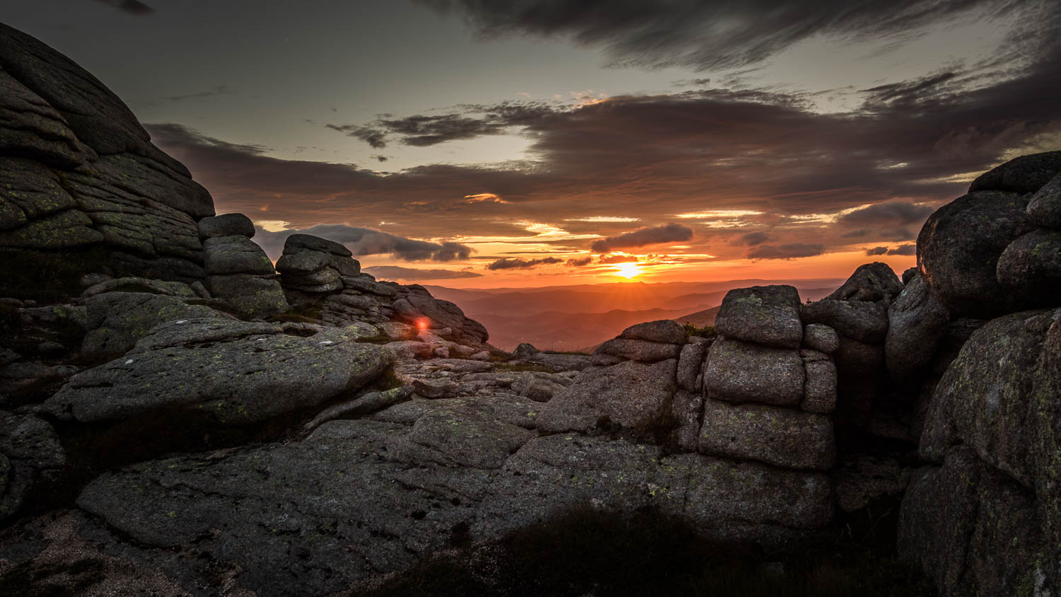 Sunrise over the Grampian Mountains - Taken from the summit of Meikle Pap.