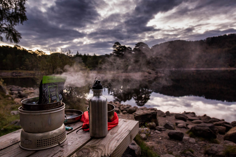 Breakfast heating on Saturday morning.
