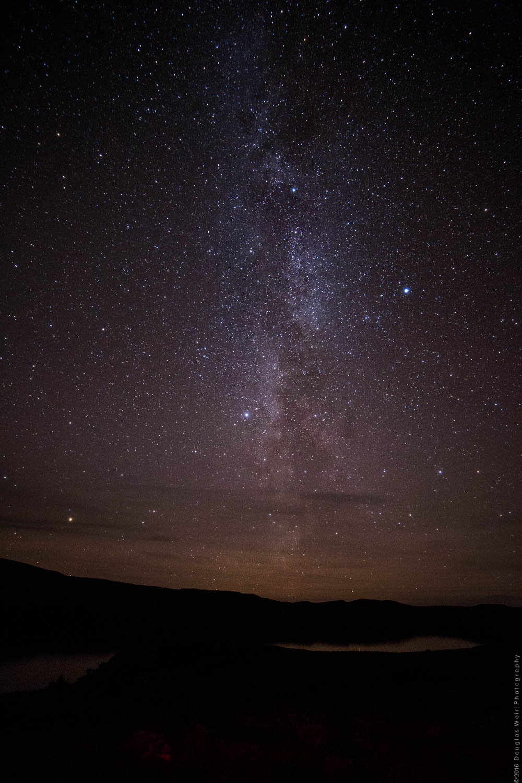 The Milky Way over Loch Bad a' Ghaill, Coigach.