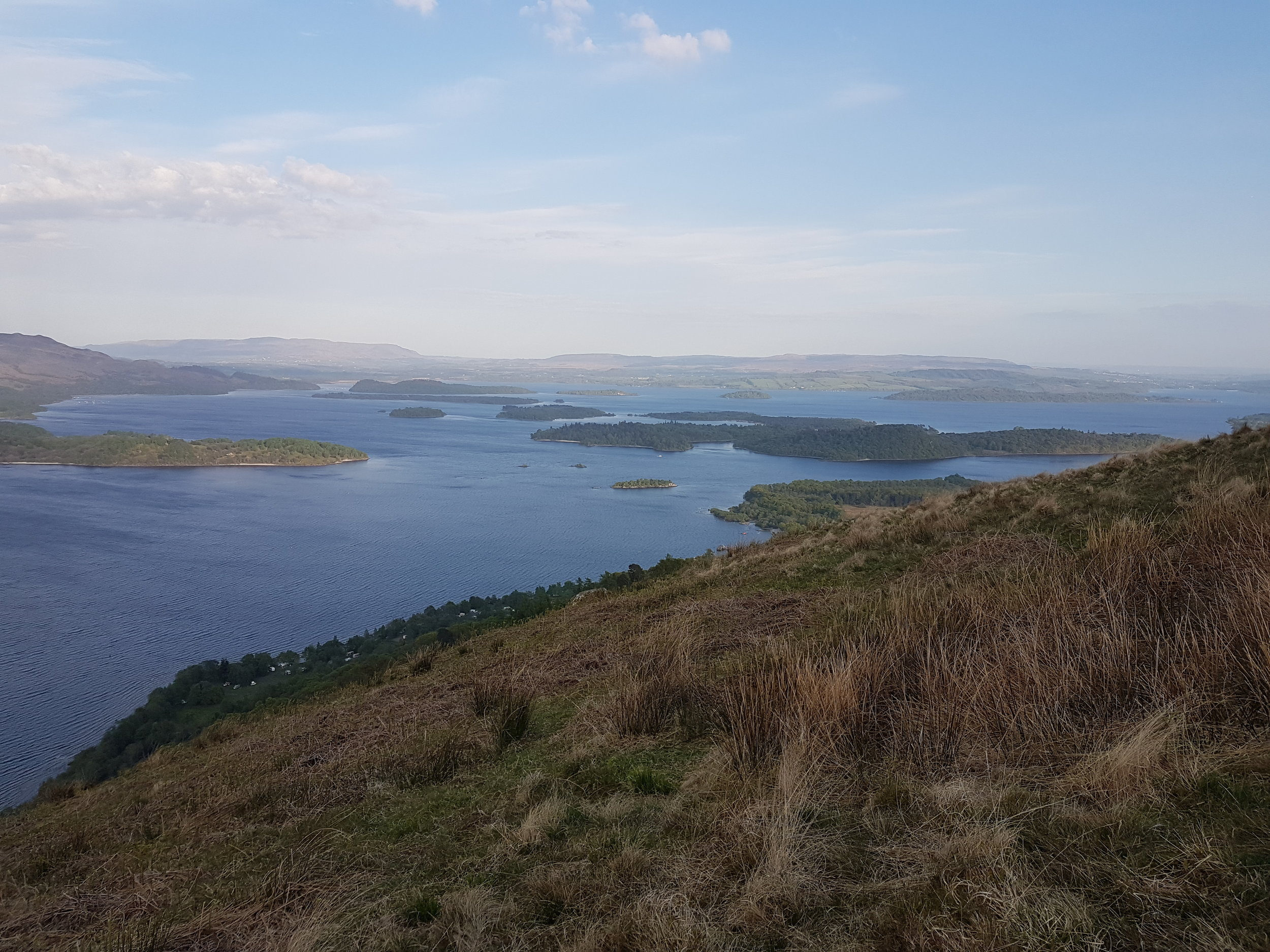 Looking south over Luss and the islands.