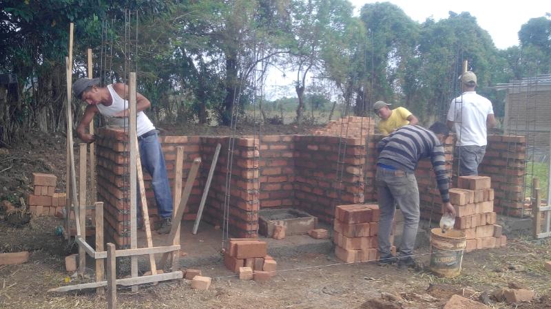 Building latrines for school