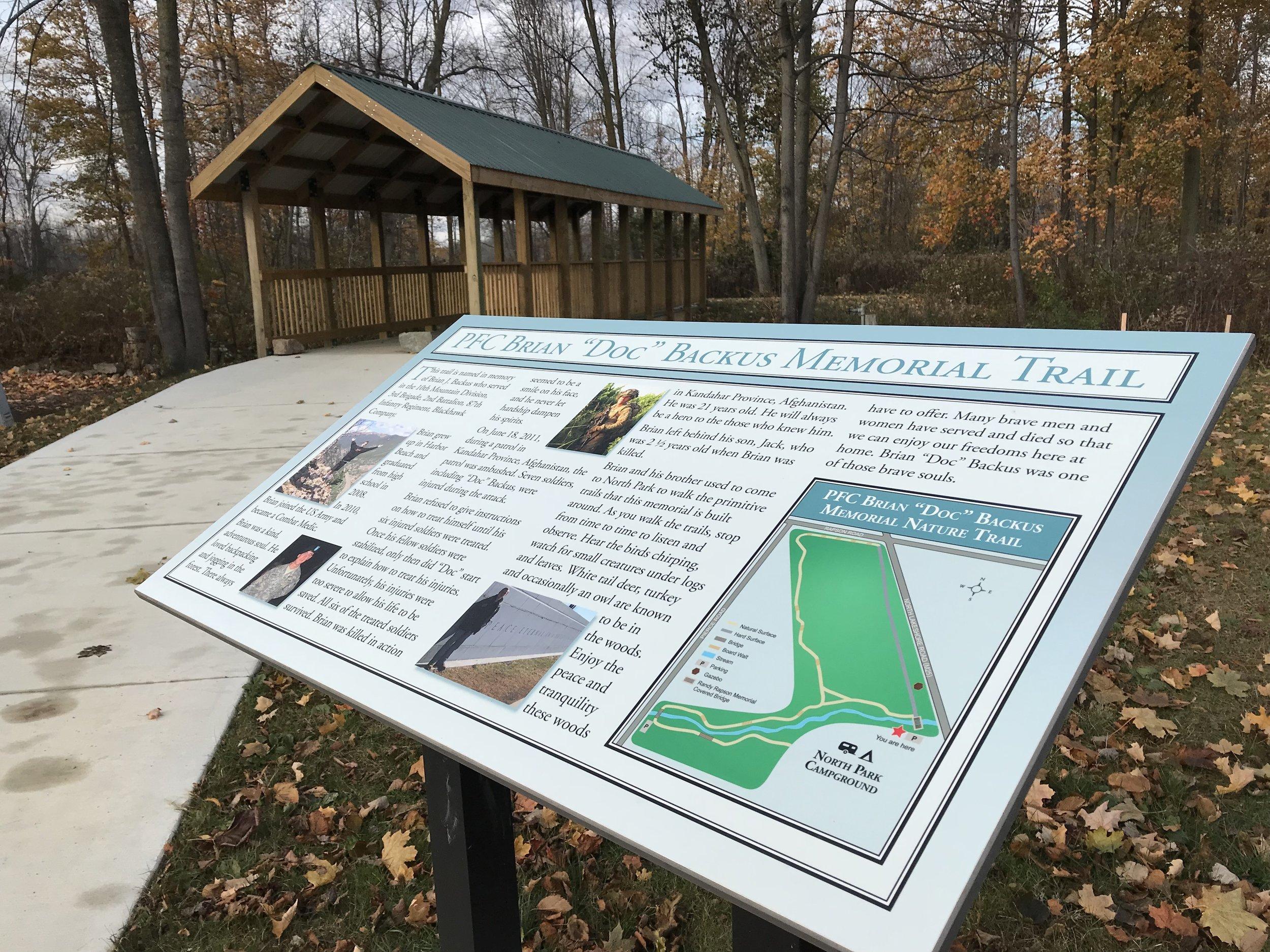 Backus Memorial Trail in Fall