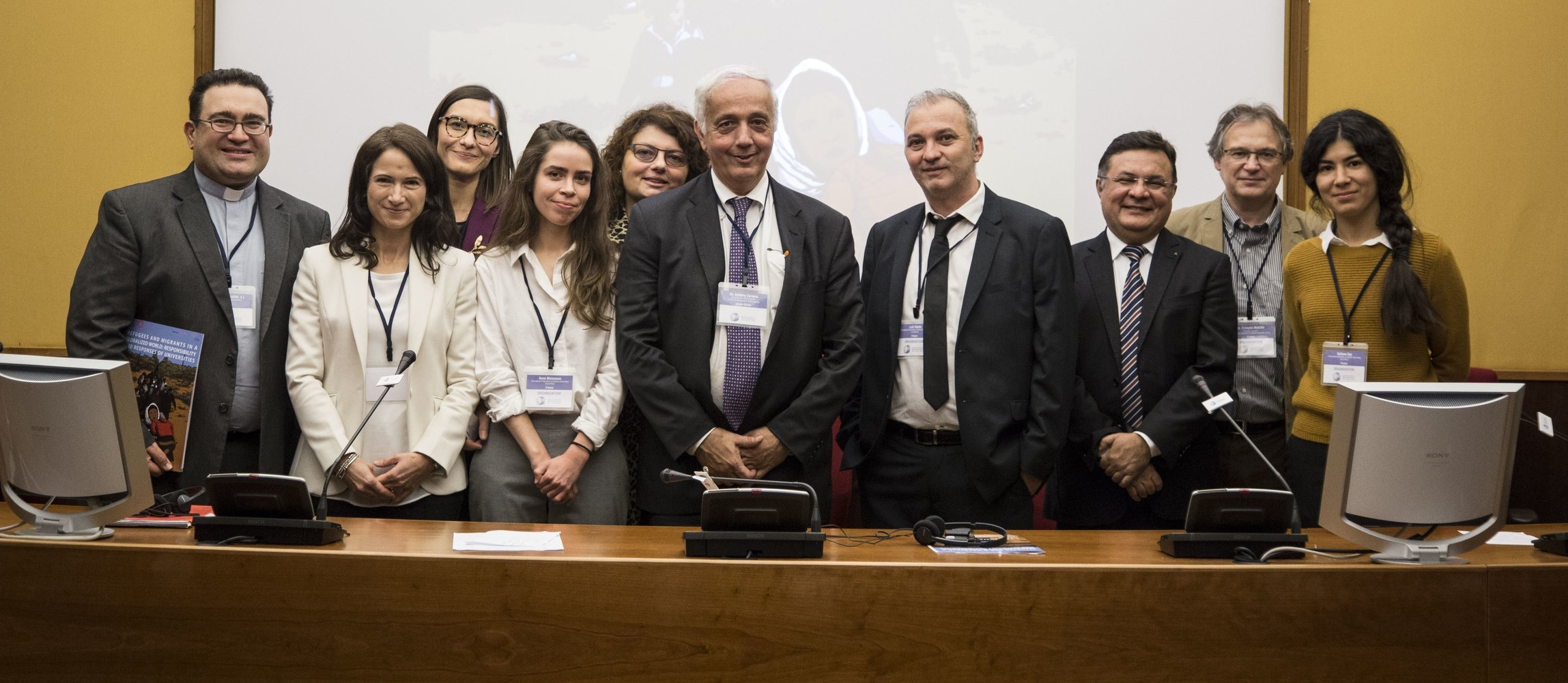 Organisers and Partners of the IMRE conference: IFCU - International Federation of Catholic Universities, Pontificia Università Gregoriana, Being the Blessing Foundation, Center for Interreligious Understanding, Projects For All, Aleteia