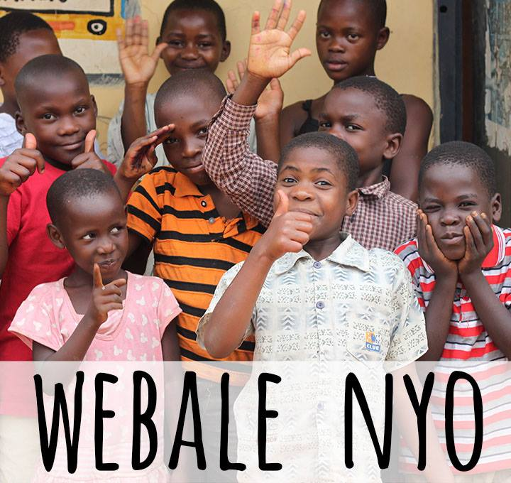 Webale Nyo means 'Thank you very much' in l'uganda, the main language spoken by the children Awamu work with