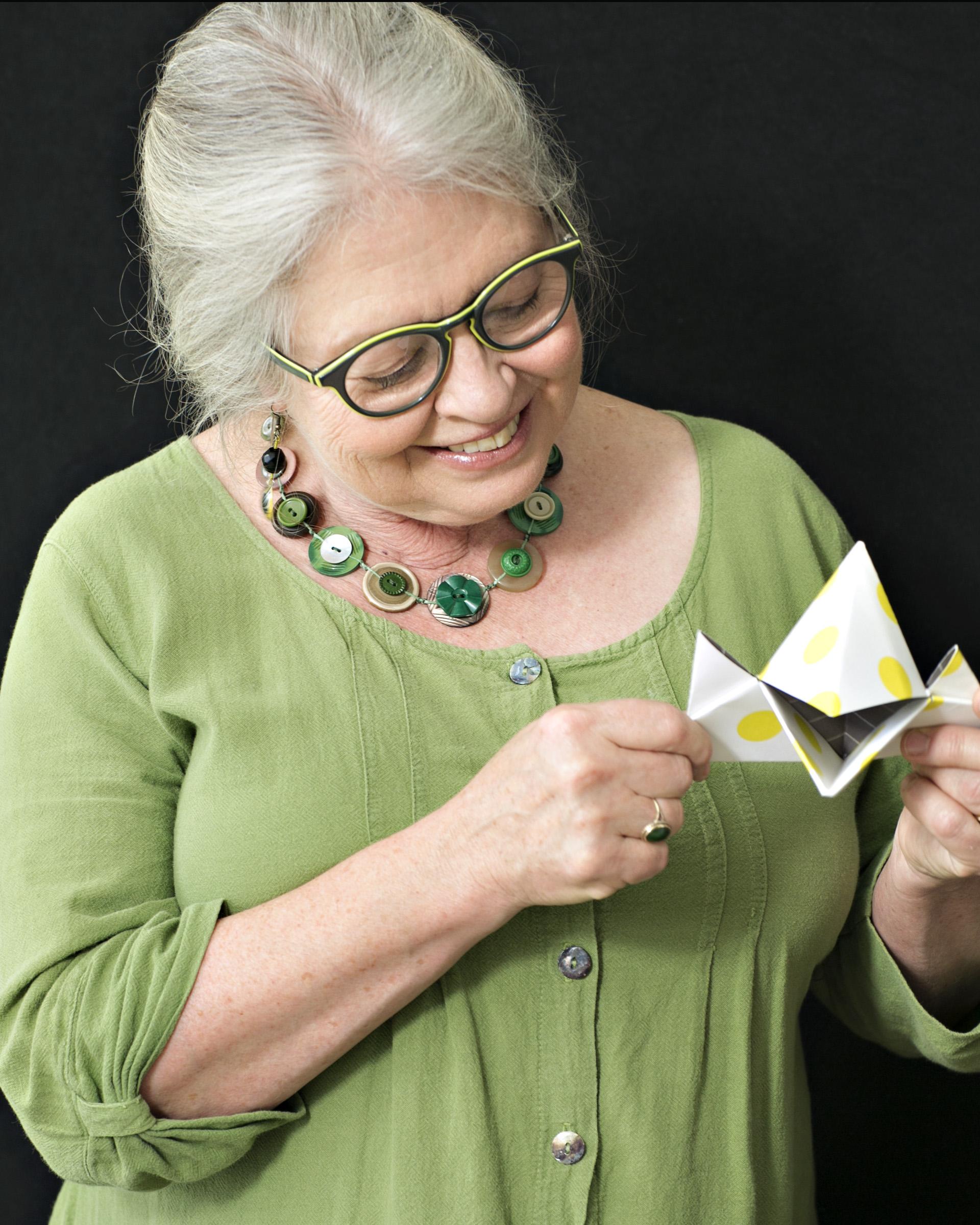 """Workshop Leader - Megan Hicks """"Origami Swami"""""""