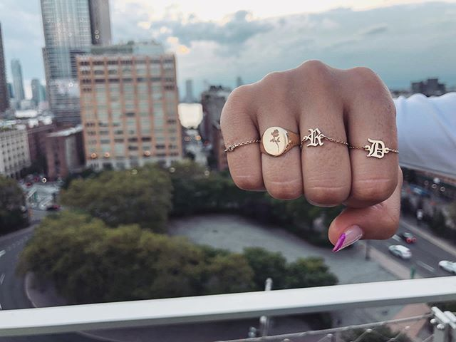 Let your hands do the talking . . . . . #imperfectaddiction #love #jotn #jotd #jewelryinspo #businessowner #instafashion #fashioninspo #goldring #dainty #gold #14kgold #wearewomenowned #smallbusinesstips #minimaljewelry #femalefoundercollective #glow #albanian #gifts #giftideas #NYC #solidgold #jewelrylover #glowup #giftsforher #smallbusiness