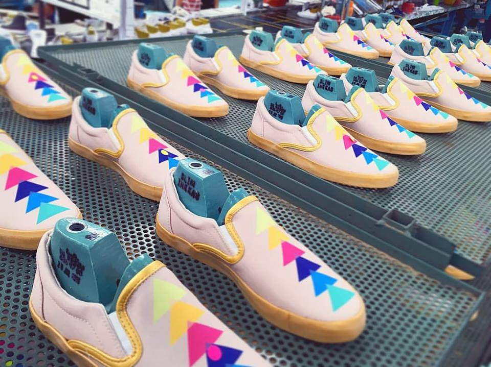 """Actual footage of my soul multiplying into an army of rainbows."" Manufacturing of KLC Collection with Inkkas."
