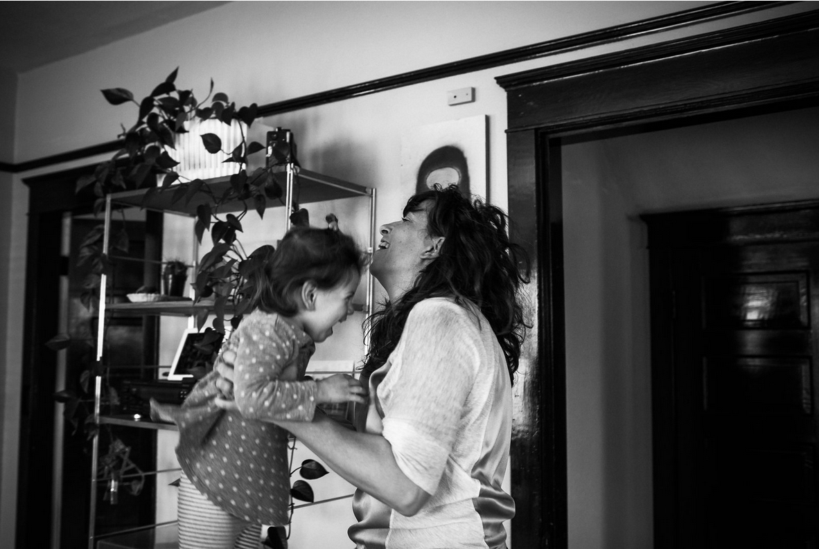 """""""Becoming a mother did change my perspective, but for the best. It narrowed my focus.""""    (Image by   Sahara Coleman  courtesy of Elizabeth Rudge)"""