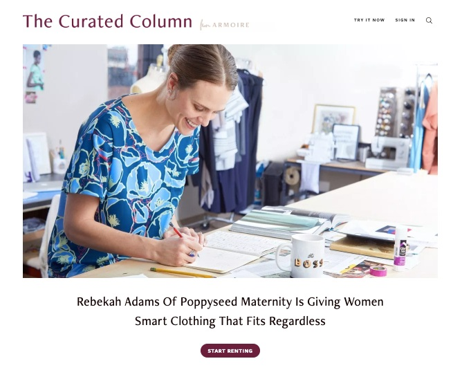 ARMOIRE BLOG, THE CURATED COLUMN   Rebekah Adams Of Poppyseed Maternity Is Giving Women Smart Clothing That Fits Regardless   read the post