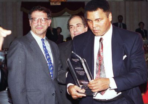 Michael Meltsner with his client Muhammad Ali.