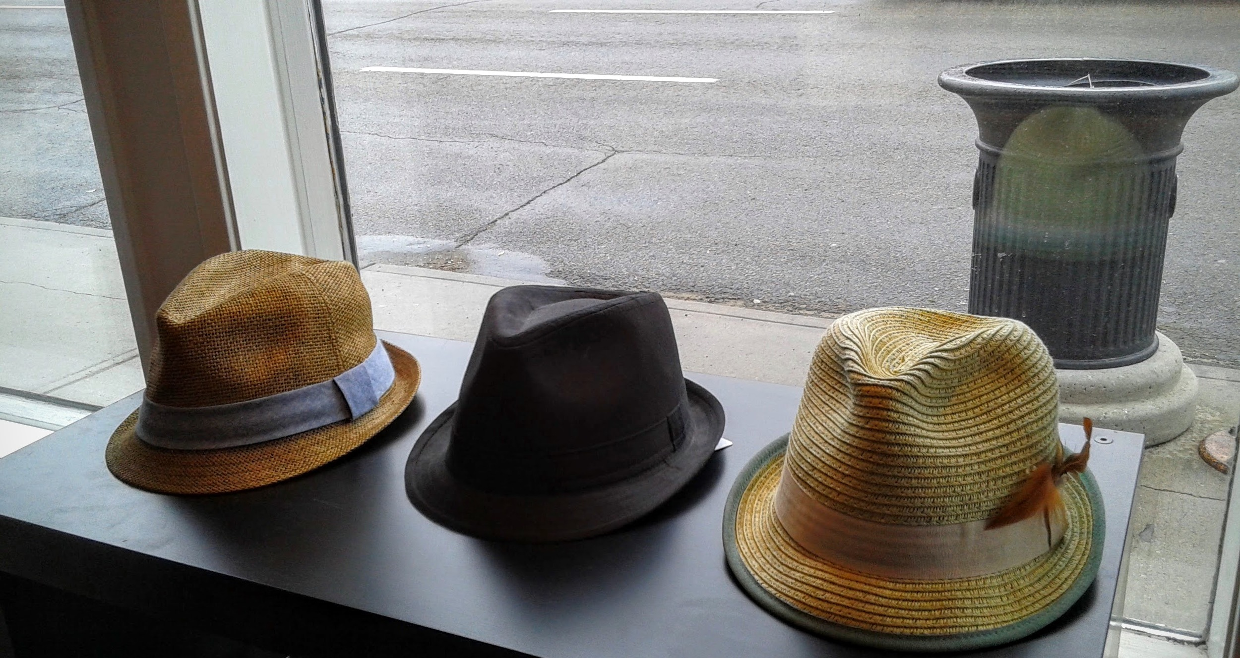 Hats left to right: $18, $8, $18