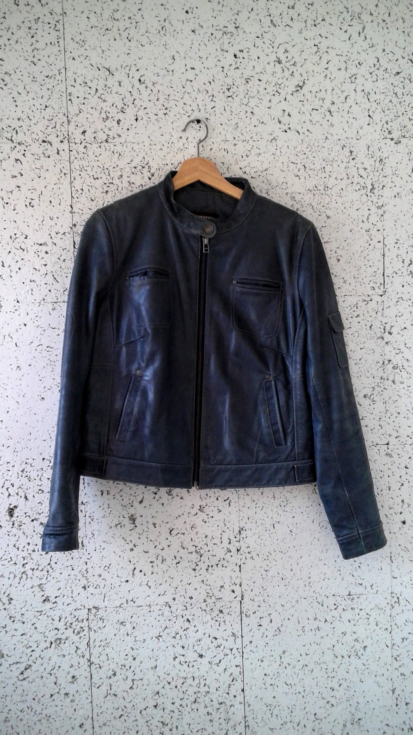 Danier leather jacket; Size M, $62