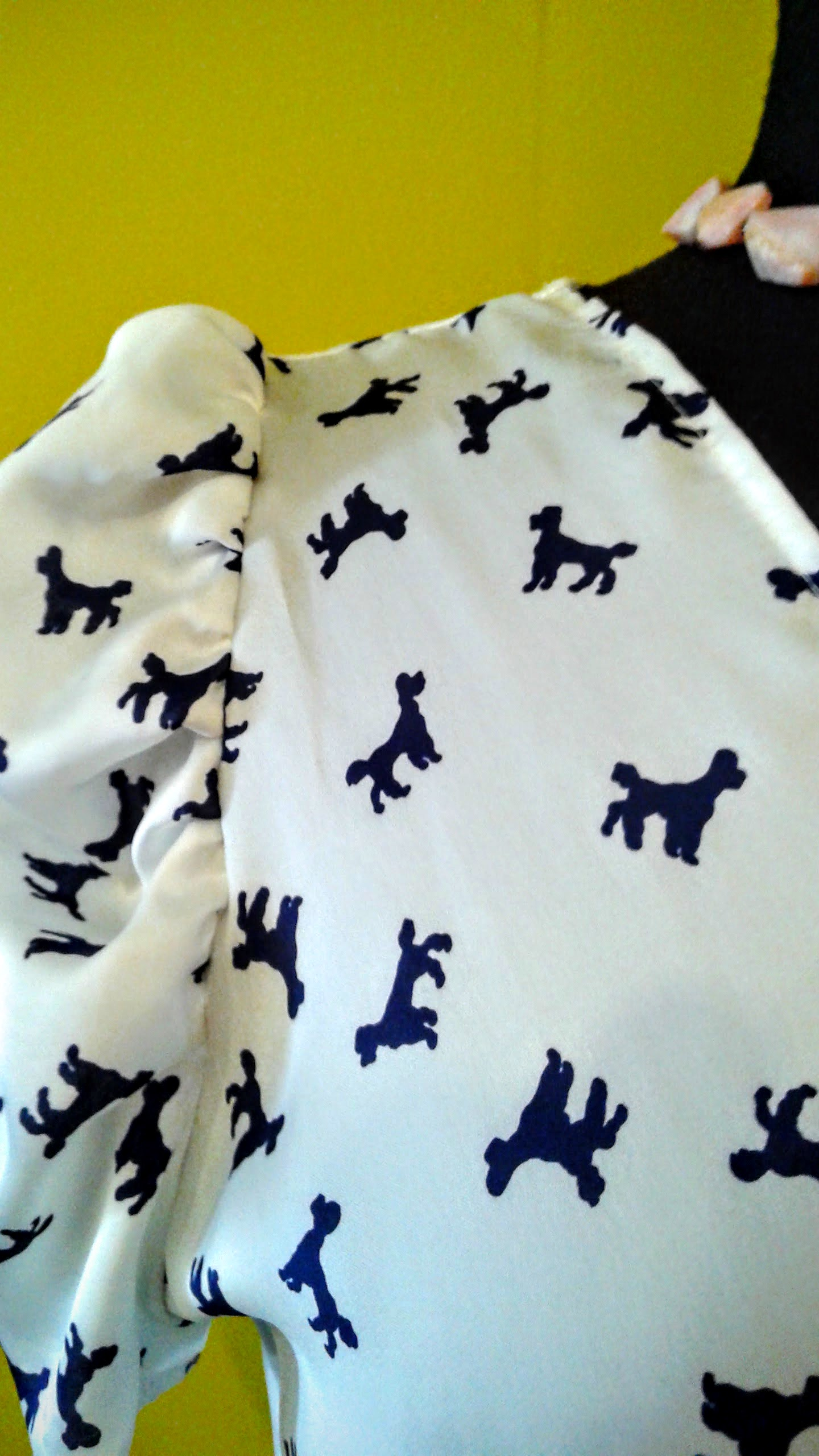 A dress with POODLES on it!