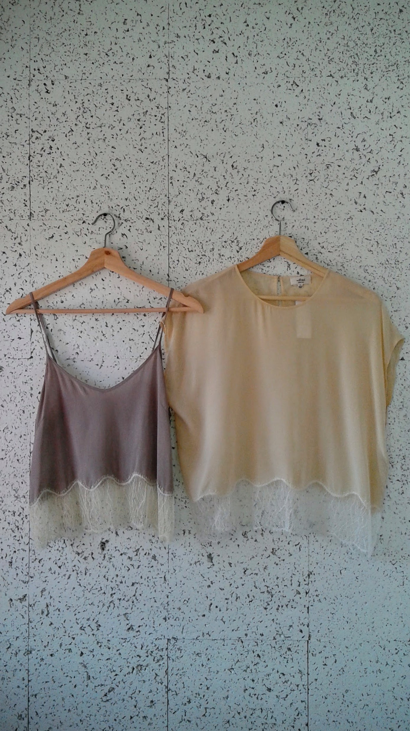 Wilfred  tops:Grey, Size M, $26; Cream, Size S, $32