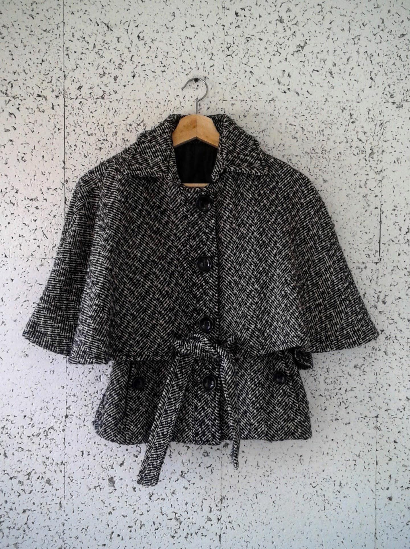 Mystic cape coat; Size S, $40