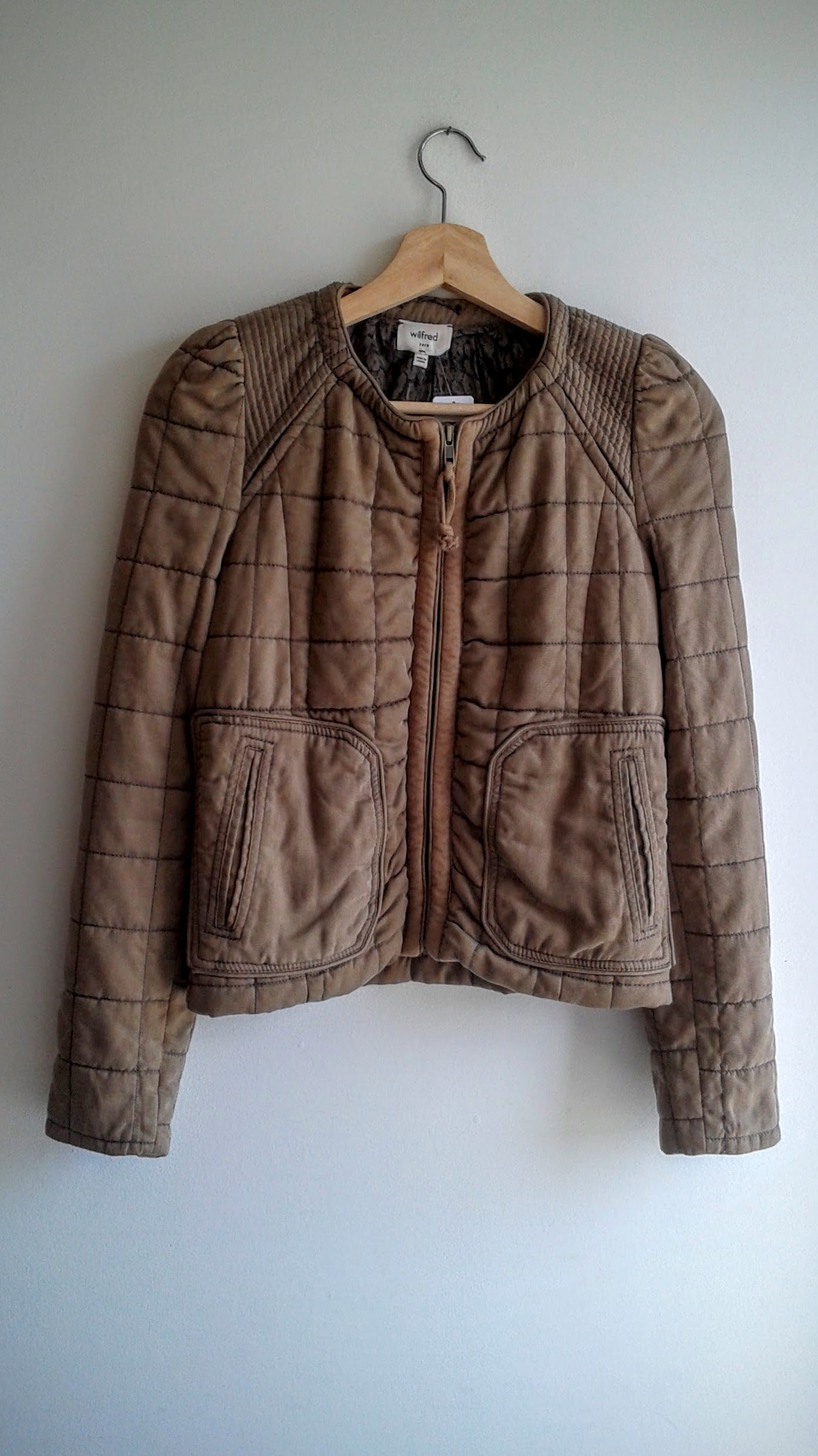 Wilfred quilted jacket; Size XS, $30