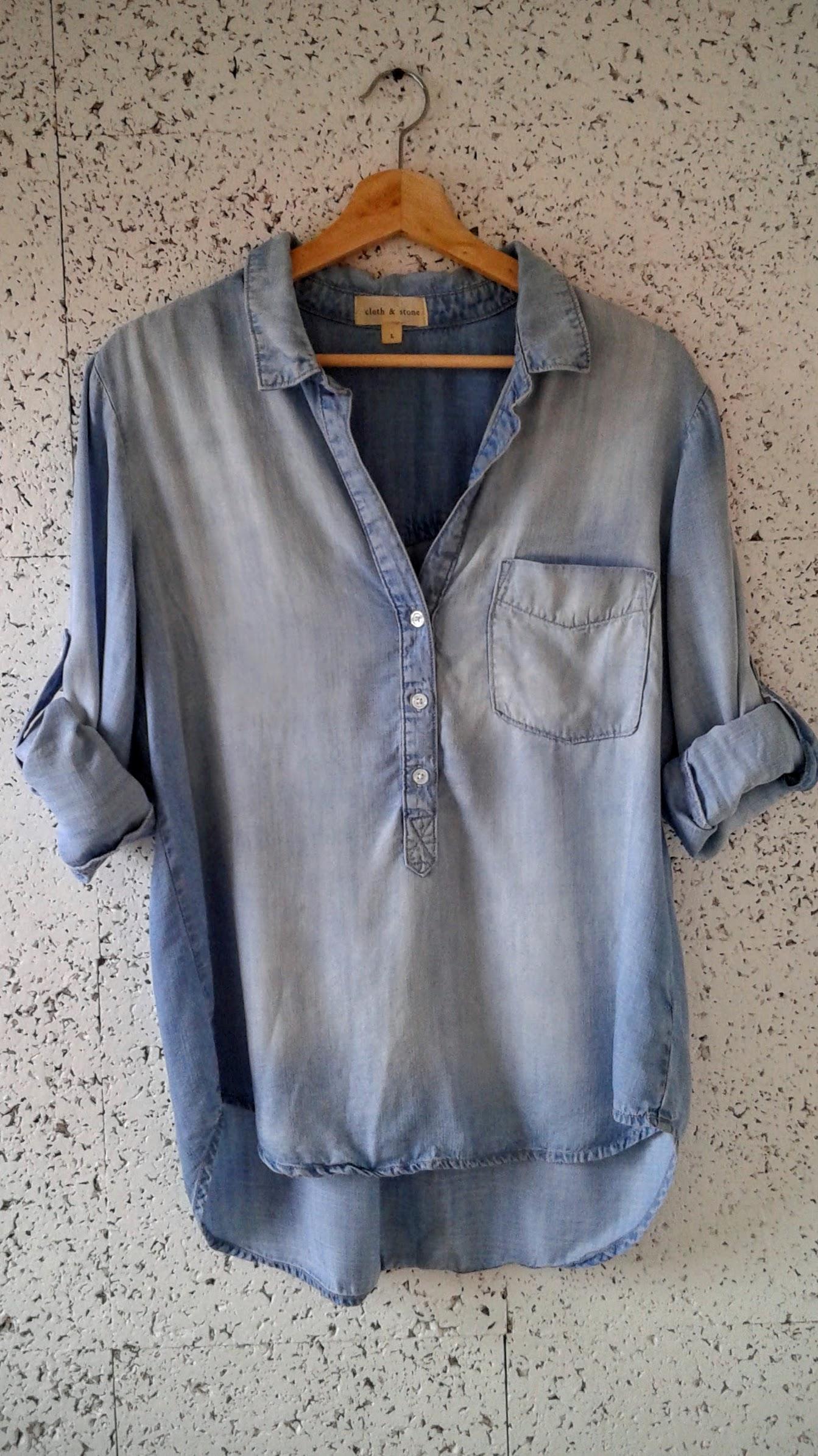 Cloth+Stone top; Size L, $28