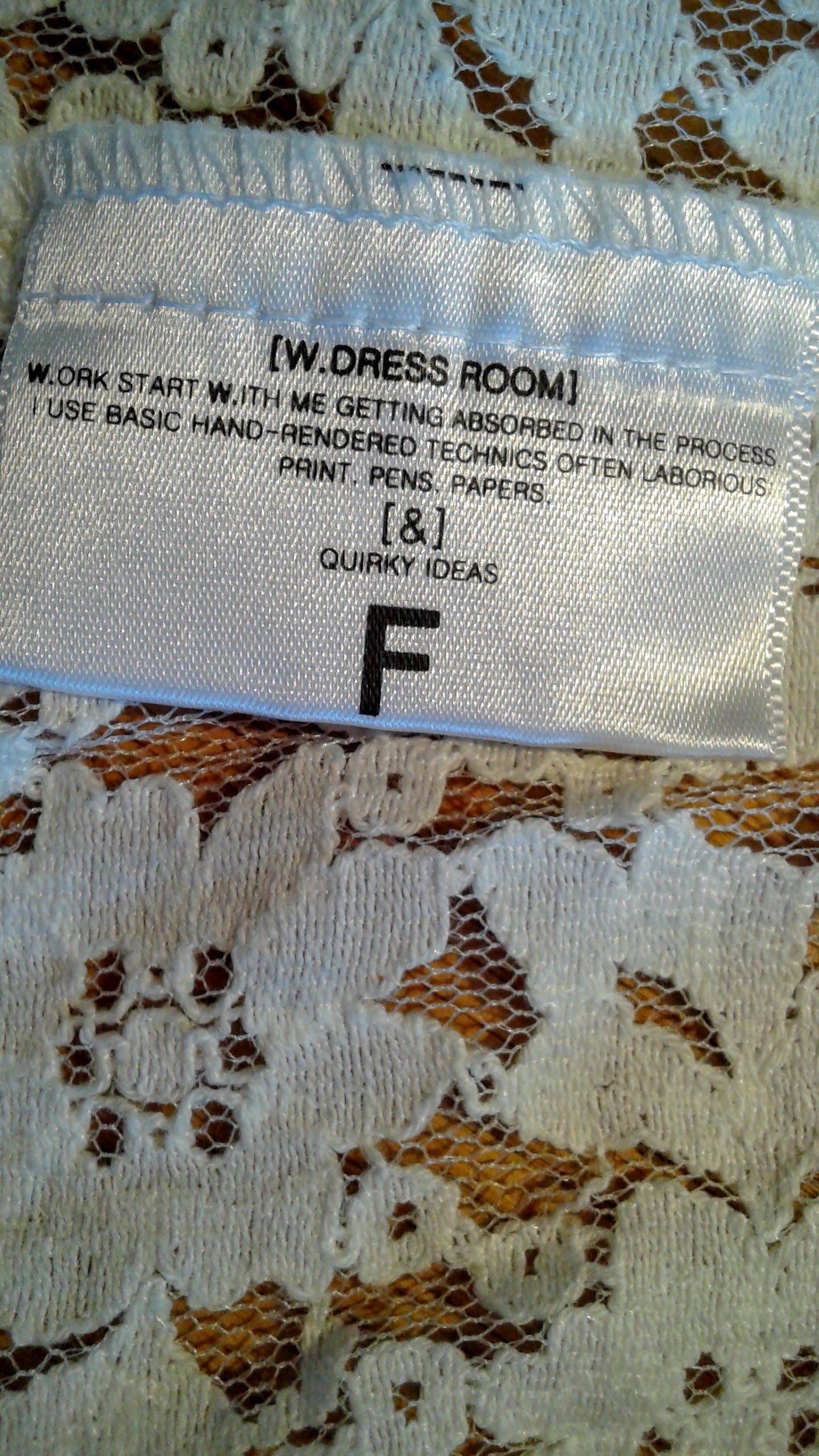 W. Dress Room