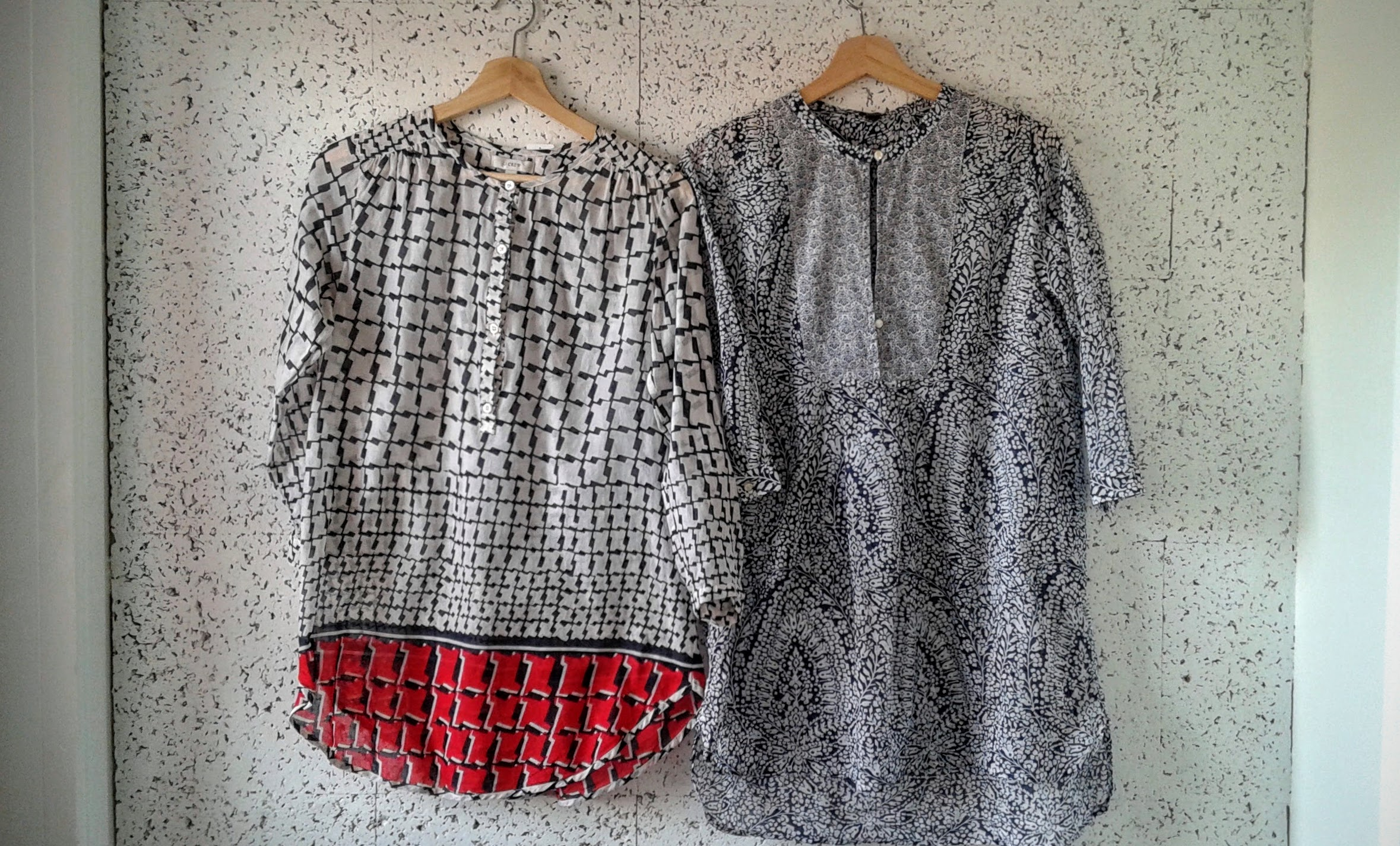 JCrew tunics; each size xs, $28