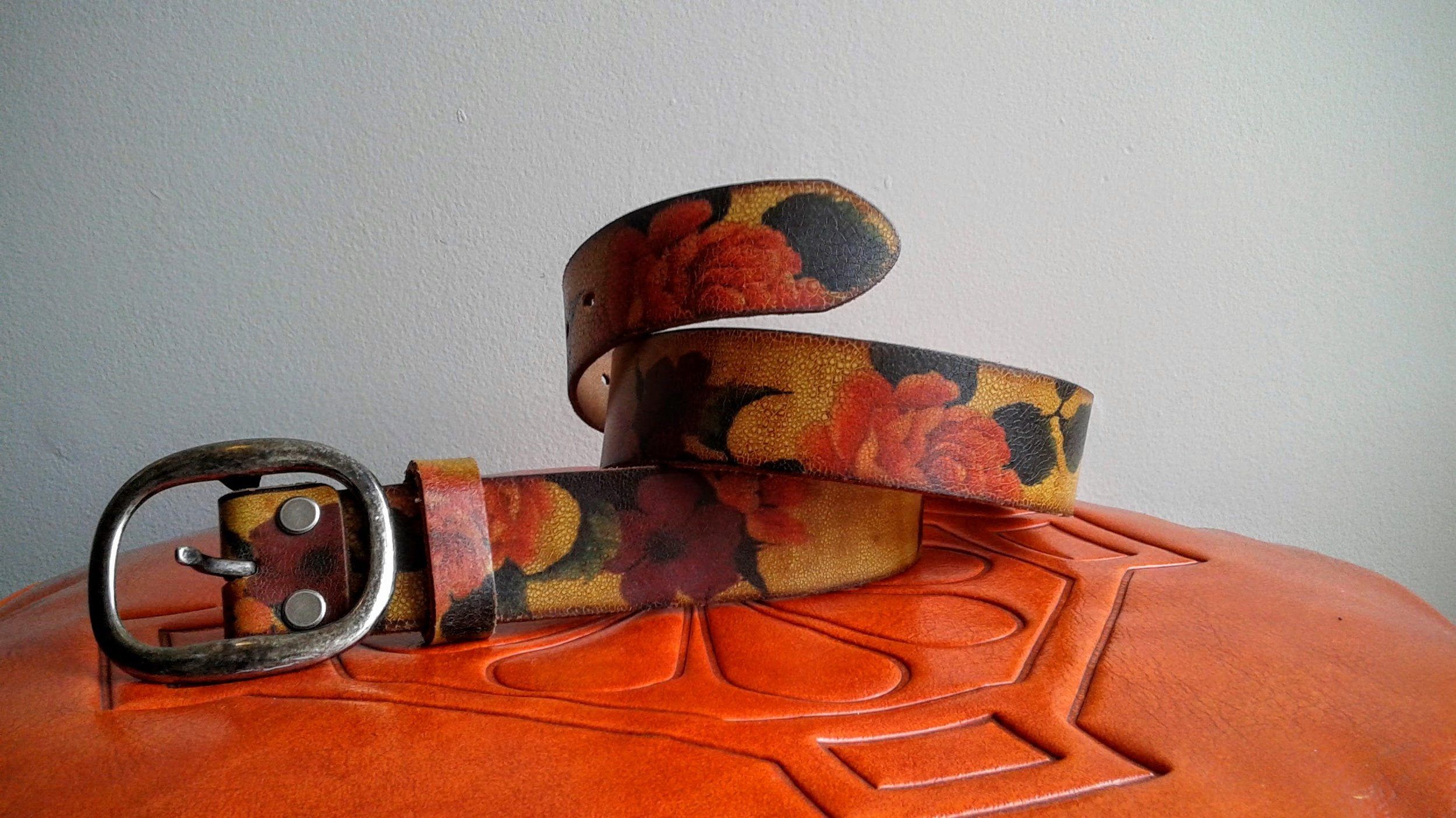 Danier leather belt, $28