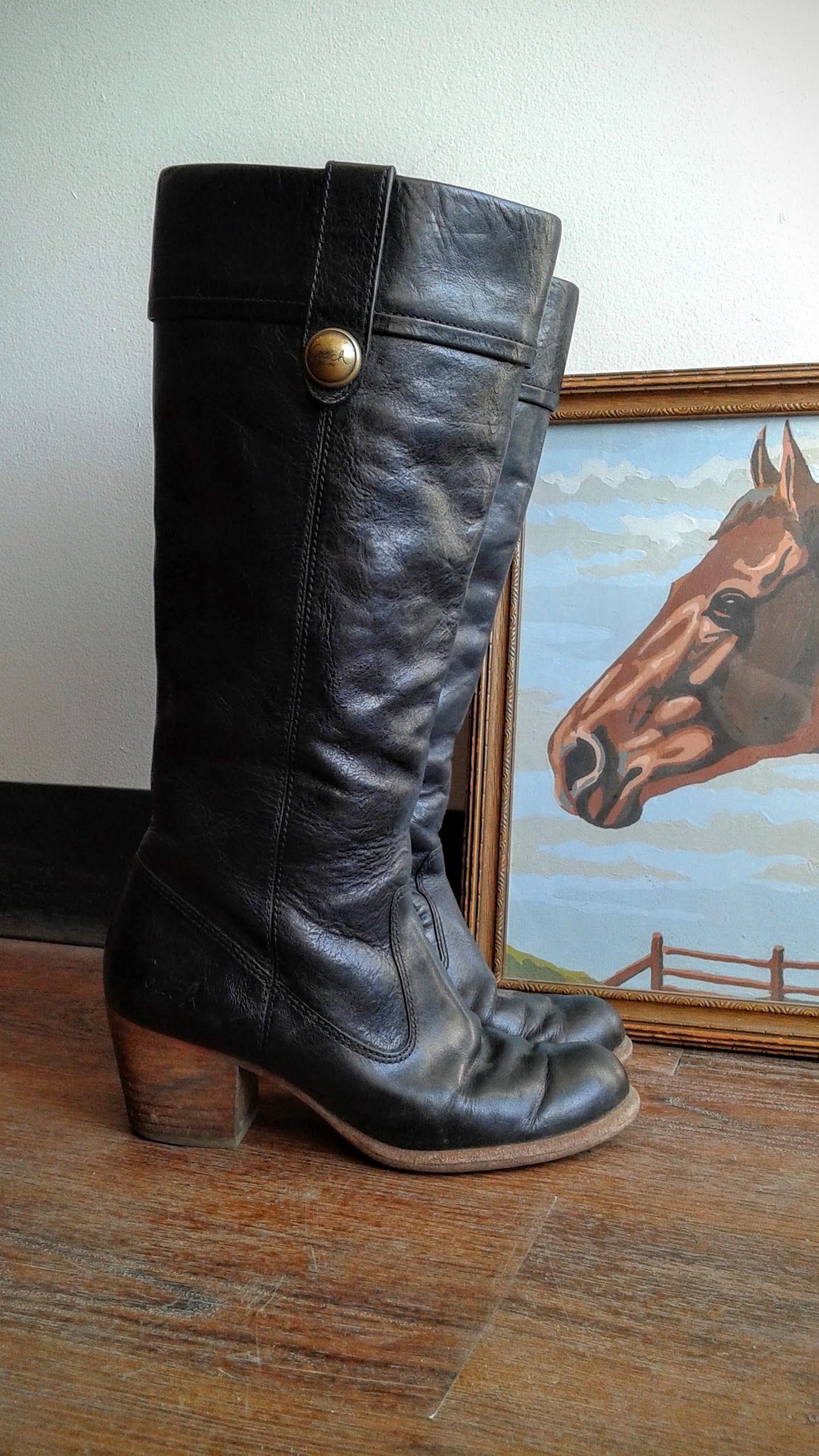 Coach boots; S5.5, $40