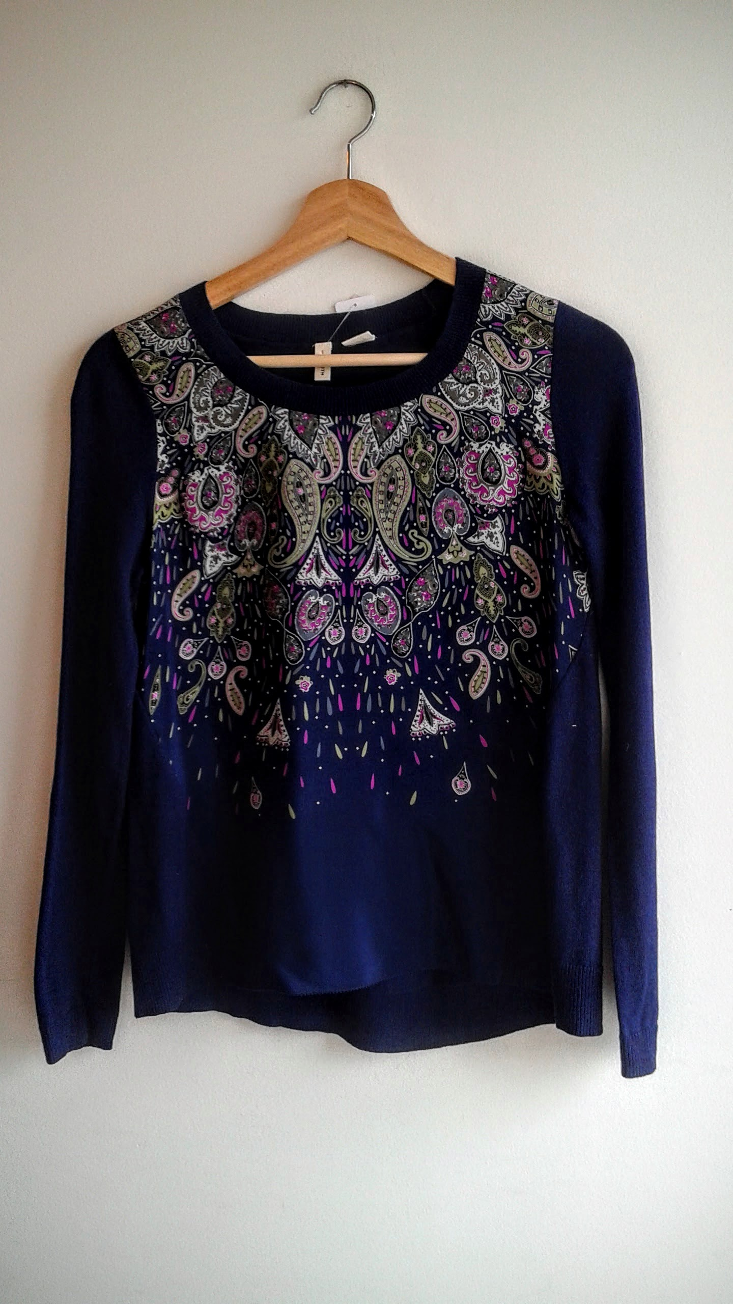 Moth shirt; Size S, $36