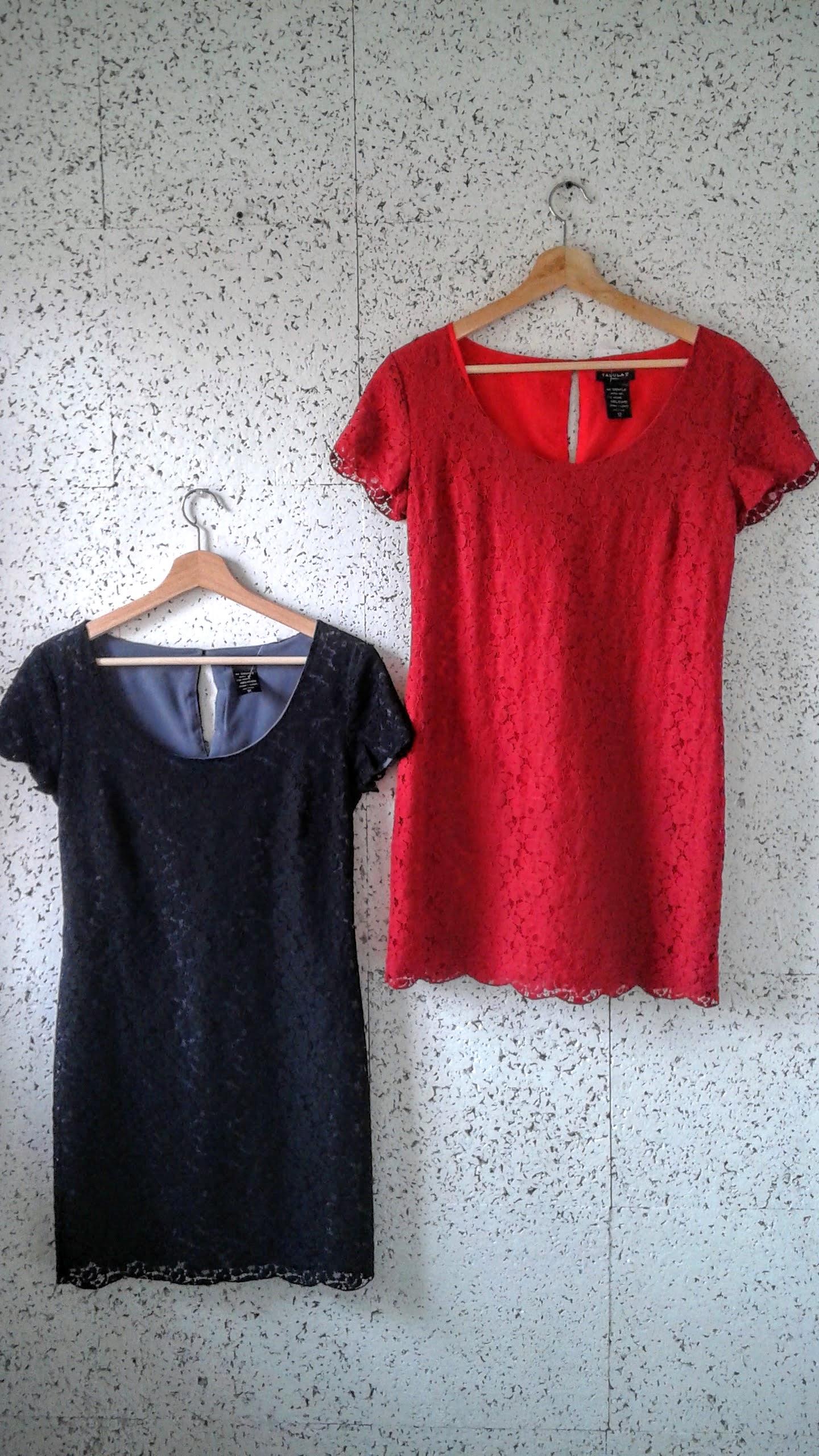 Tallulau dresses, $34 each; Black size XS, Red size S