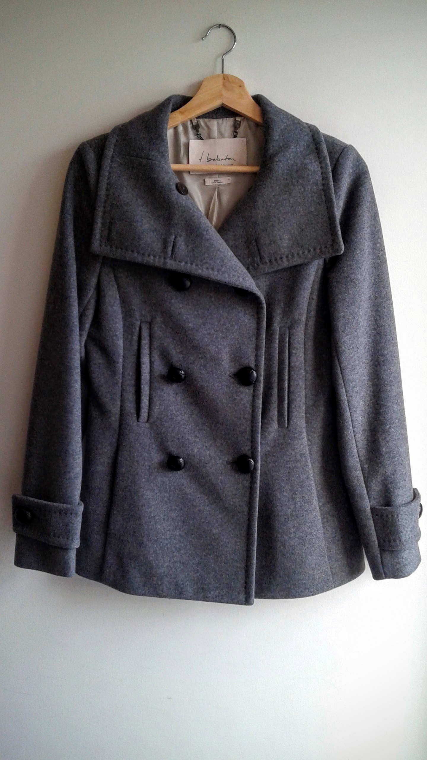 Babaton coat; Size S, $95