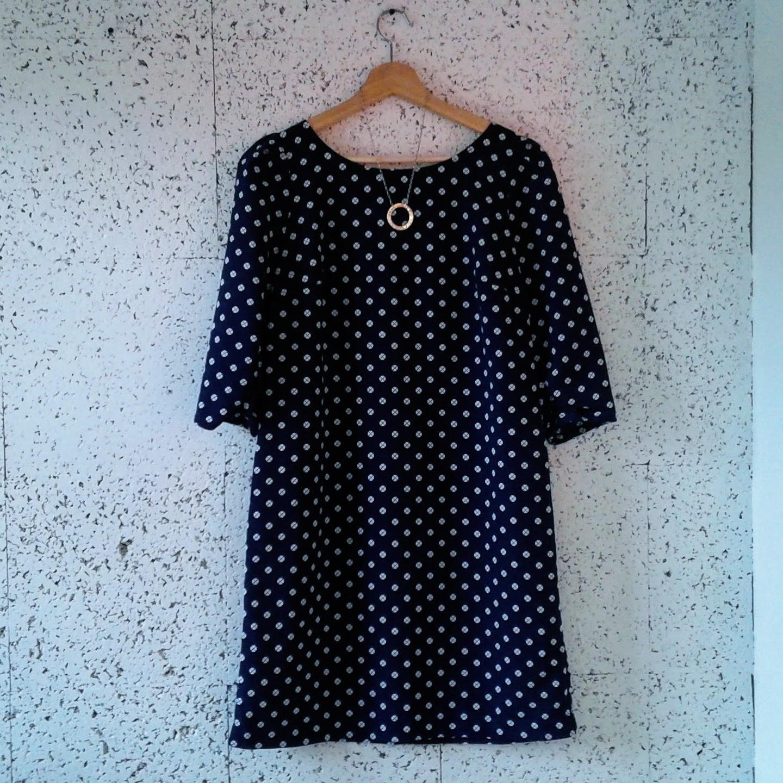 Jacob dress; Size M, $32. Necklace, $24