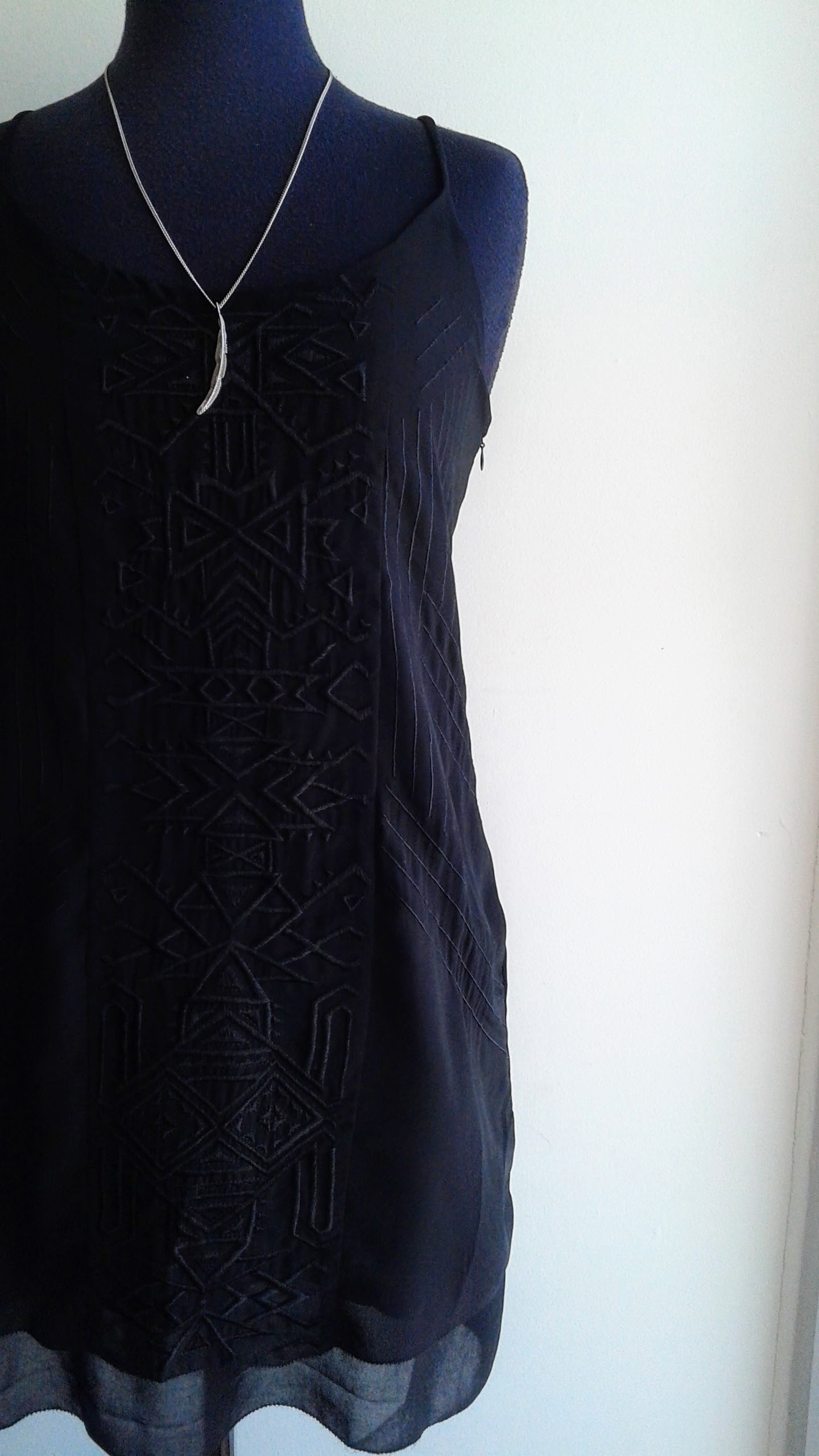 Gentle Fawn dress; Size S, $30. Necklace $26