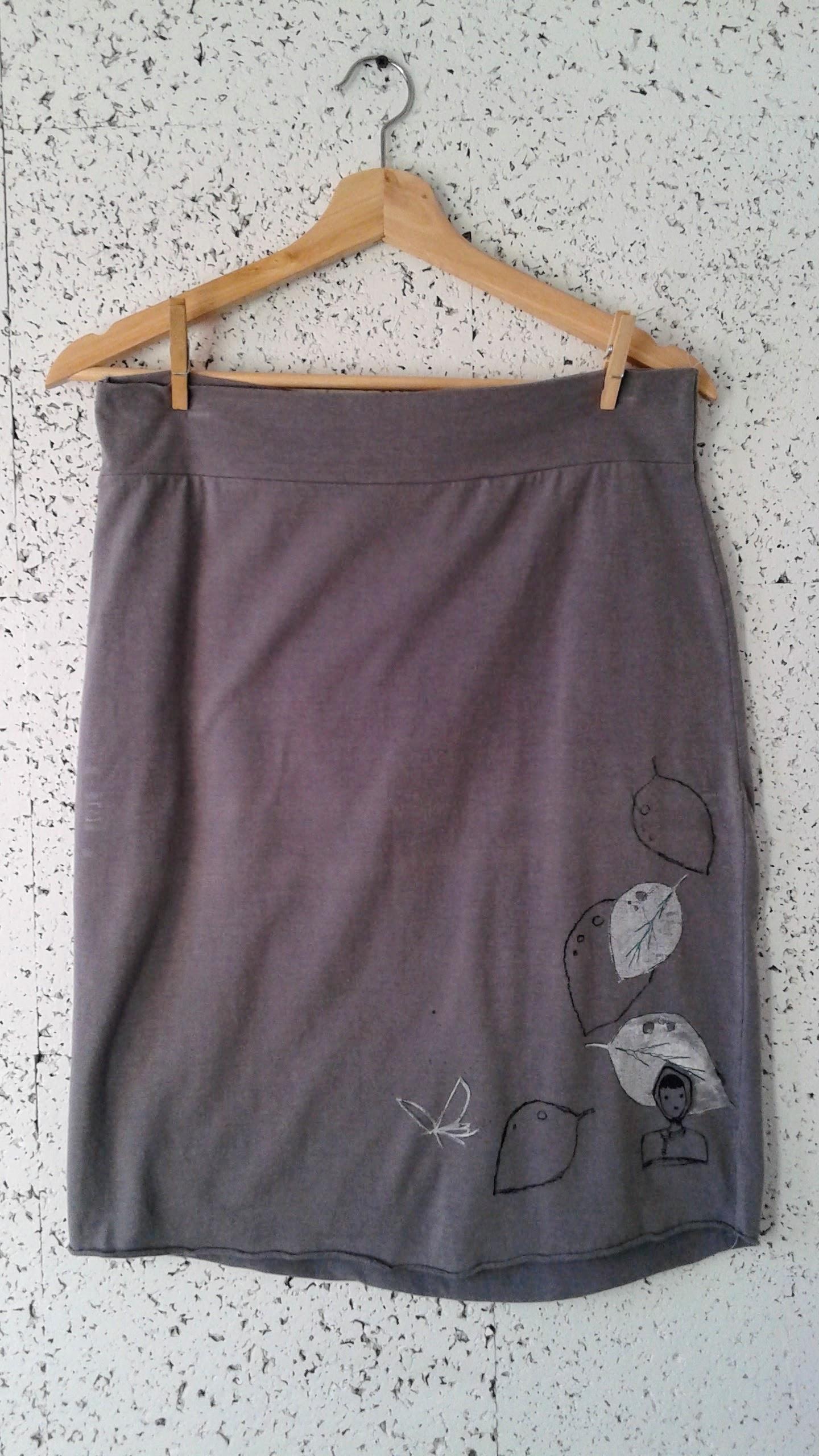 Grey skirt; Size S/M, $26