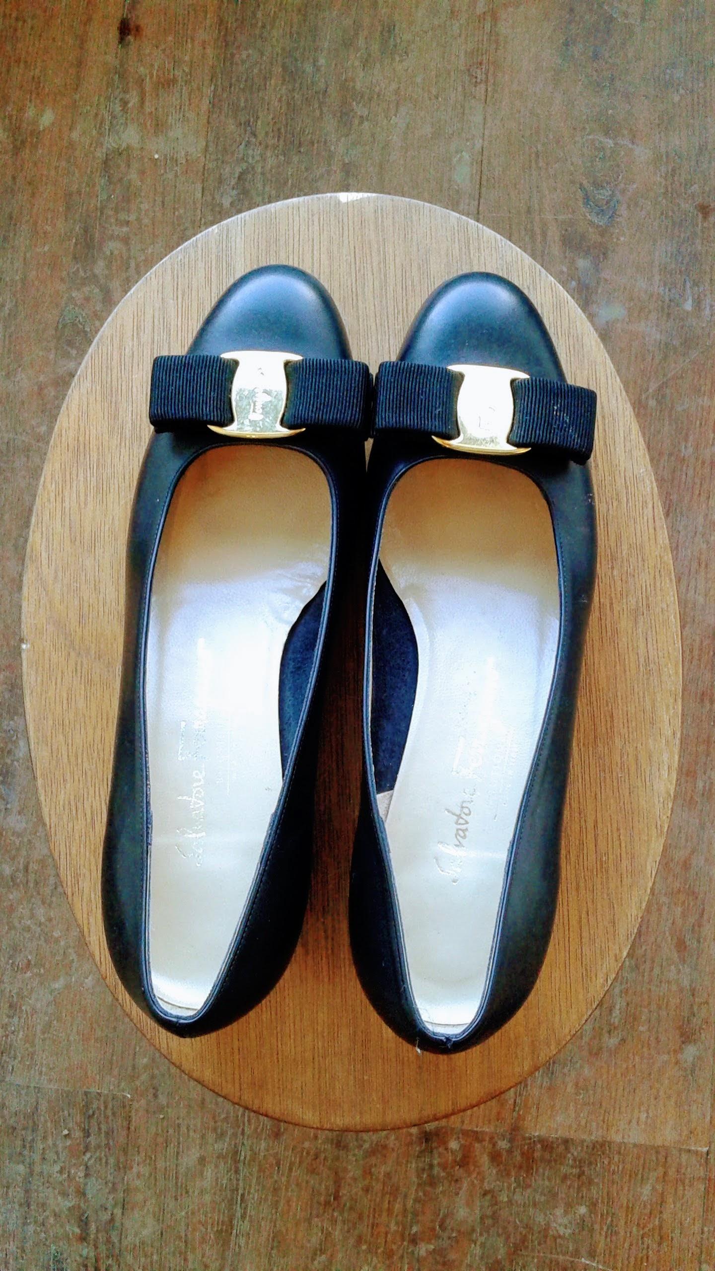 Ferragamo shoes; S6, $45