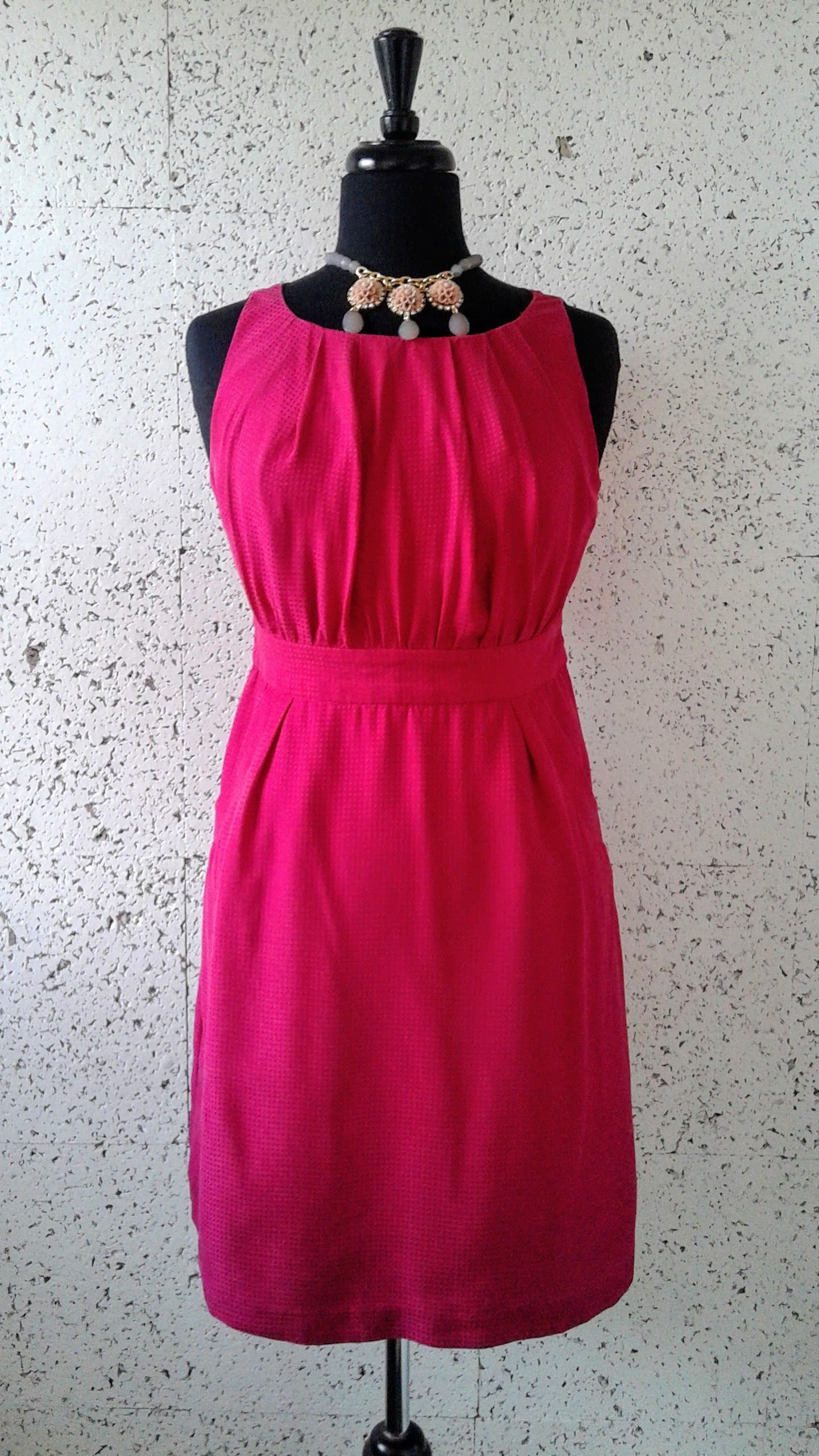 Jacob dress; Size S, $30. Necklace, $30