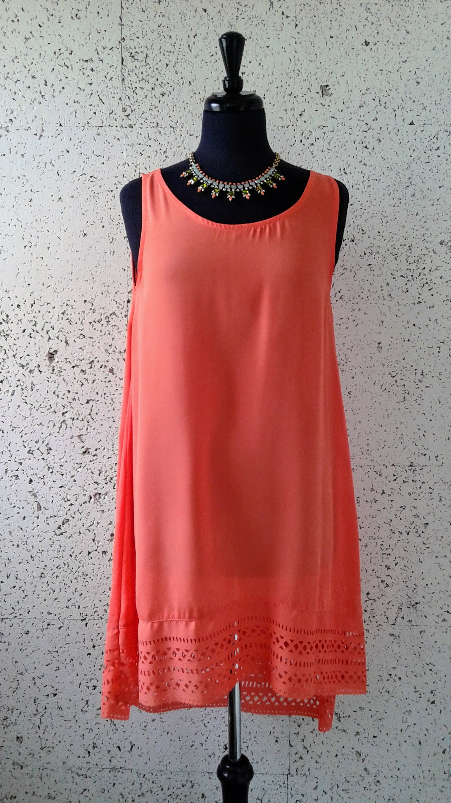 Oak+Fort dress; Size S, $48. J Crew necklace, $32