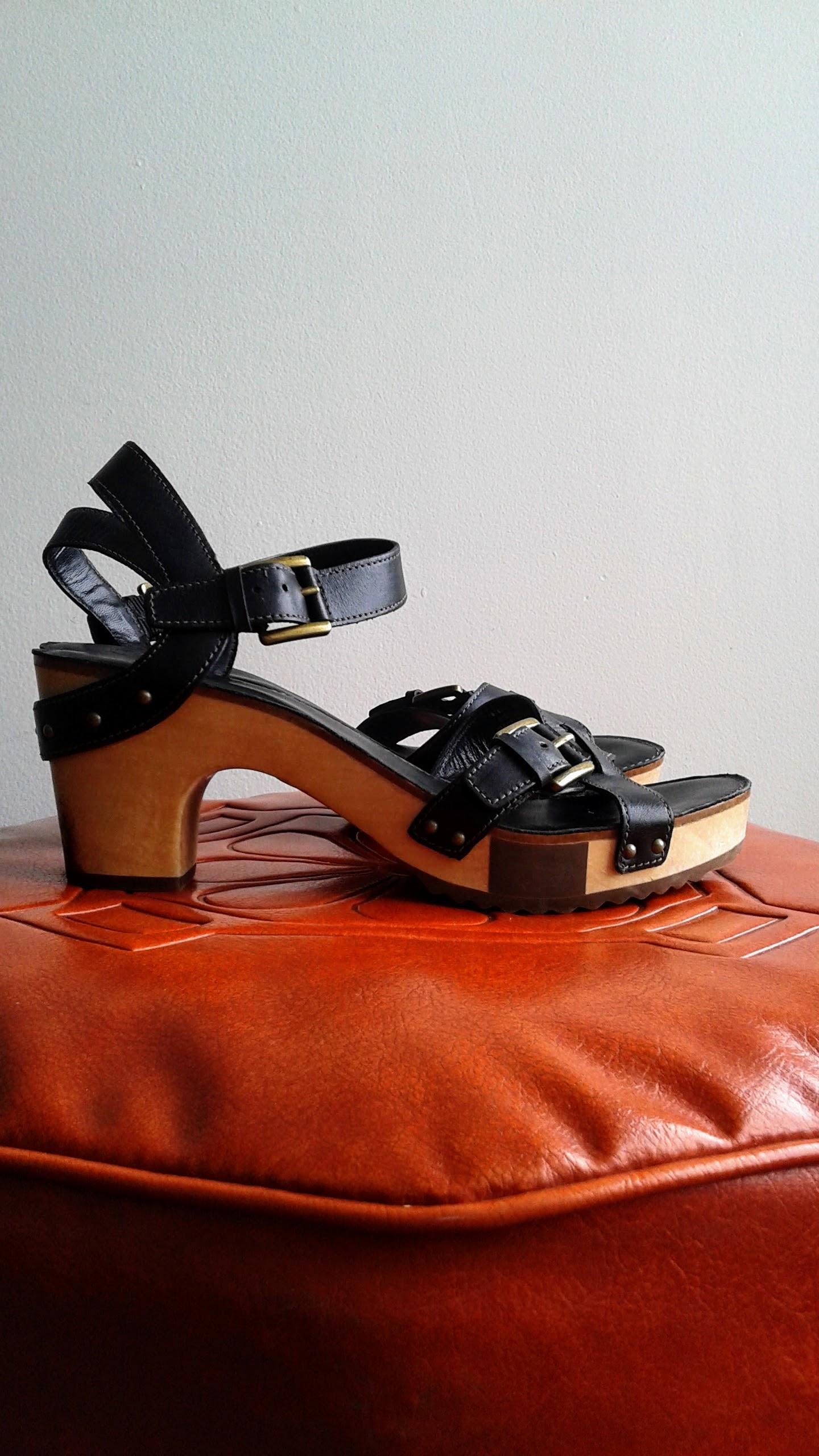 Ecco sandals; S9.5, $48