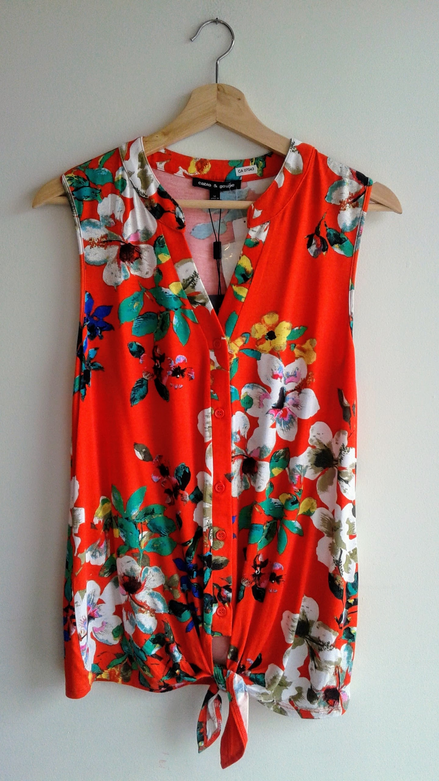 Cable and Gauge top (NWT); Size M, $24