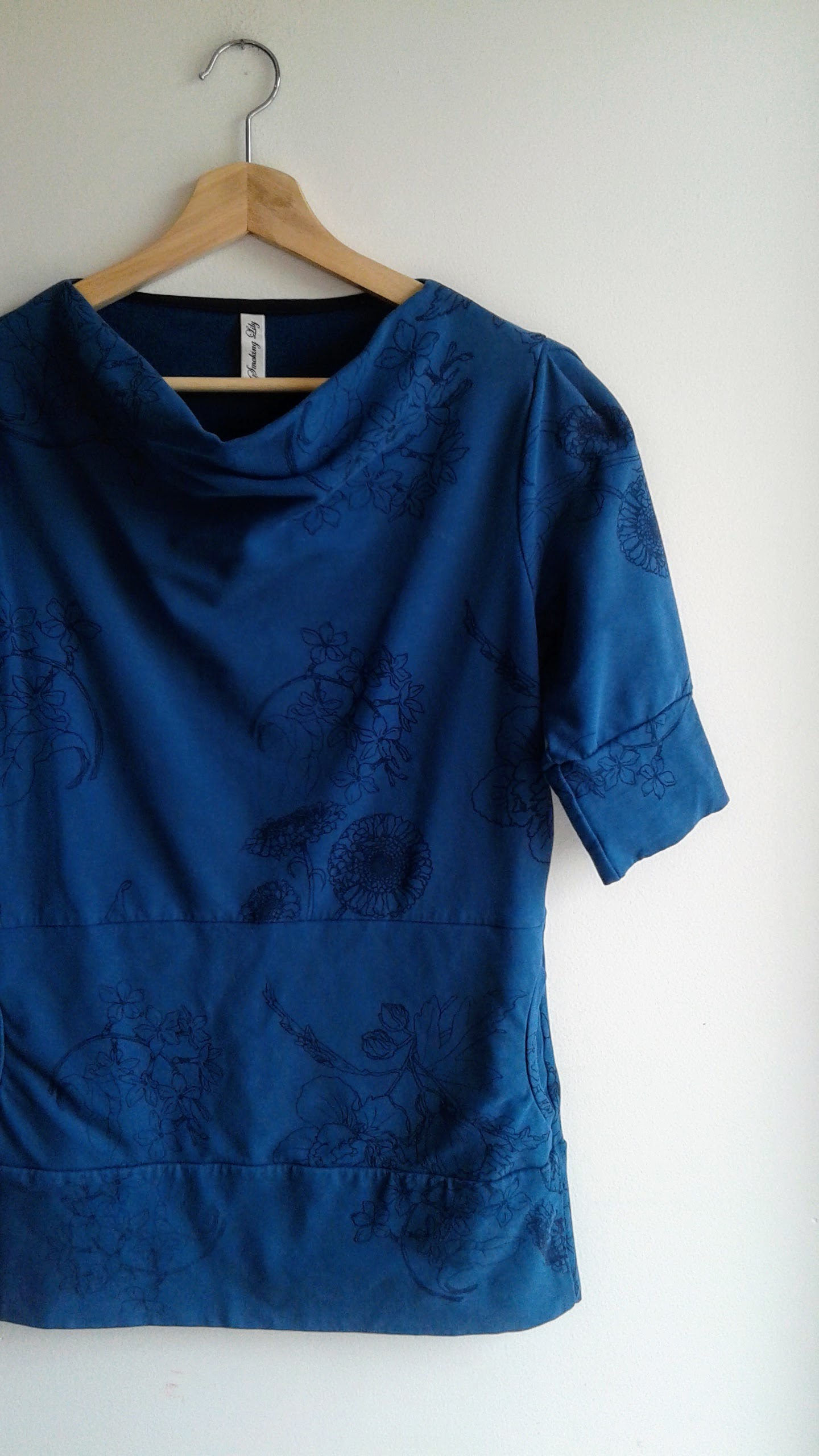 Smoking Lily top; Size S, $34