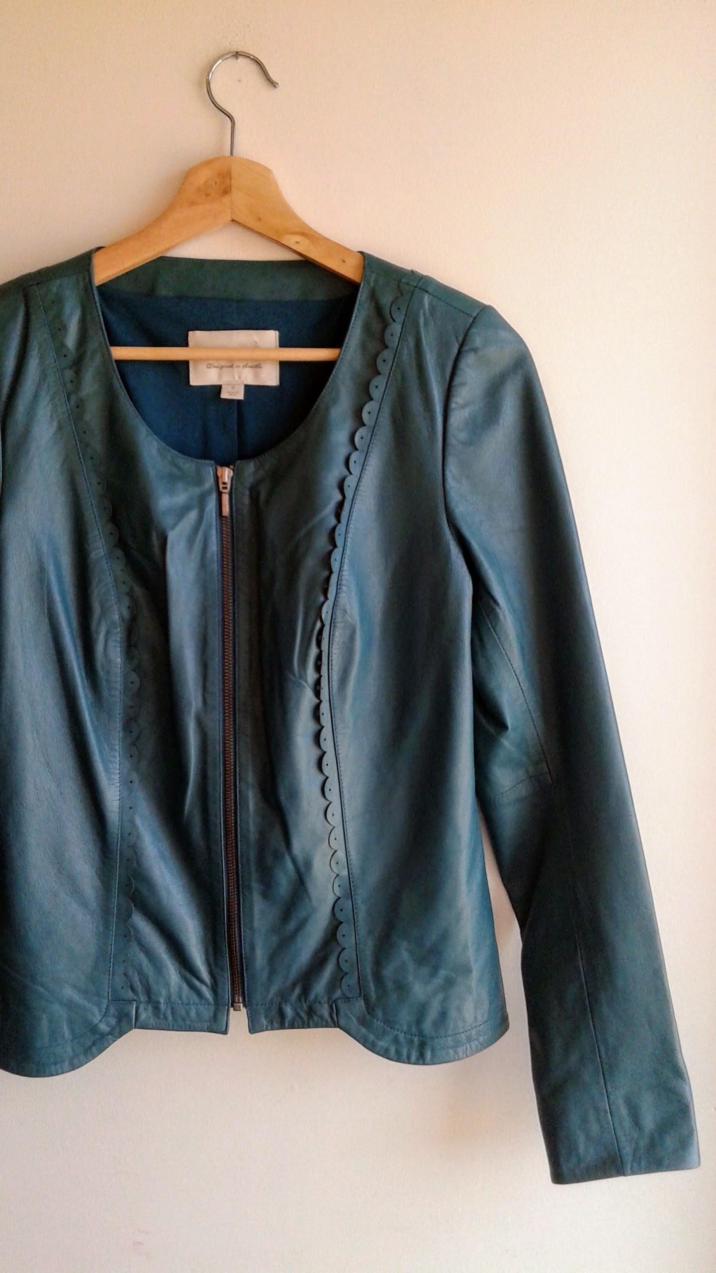 Hinge jacket; Size S, $62