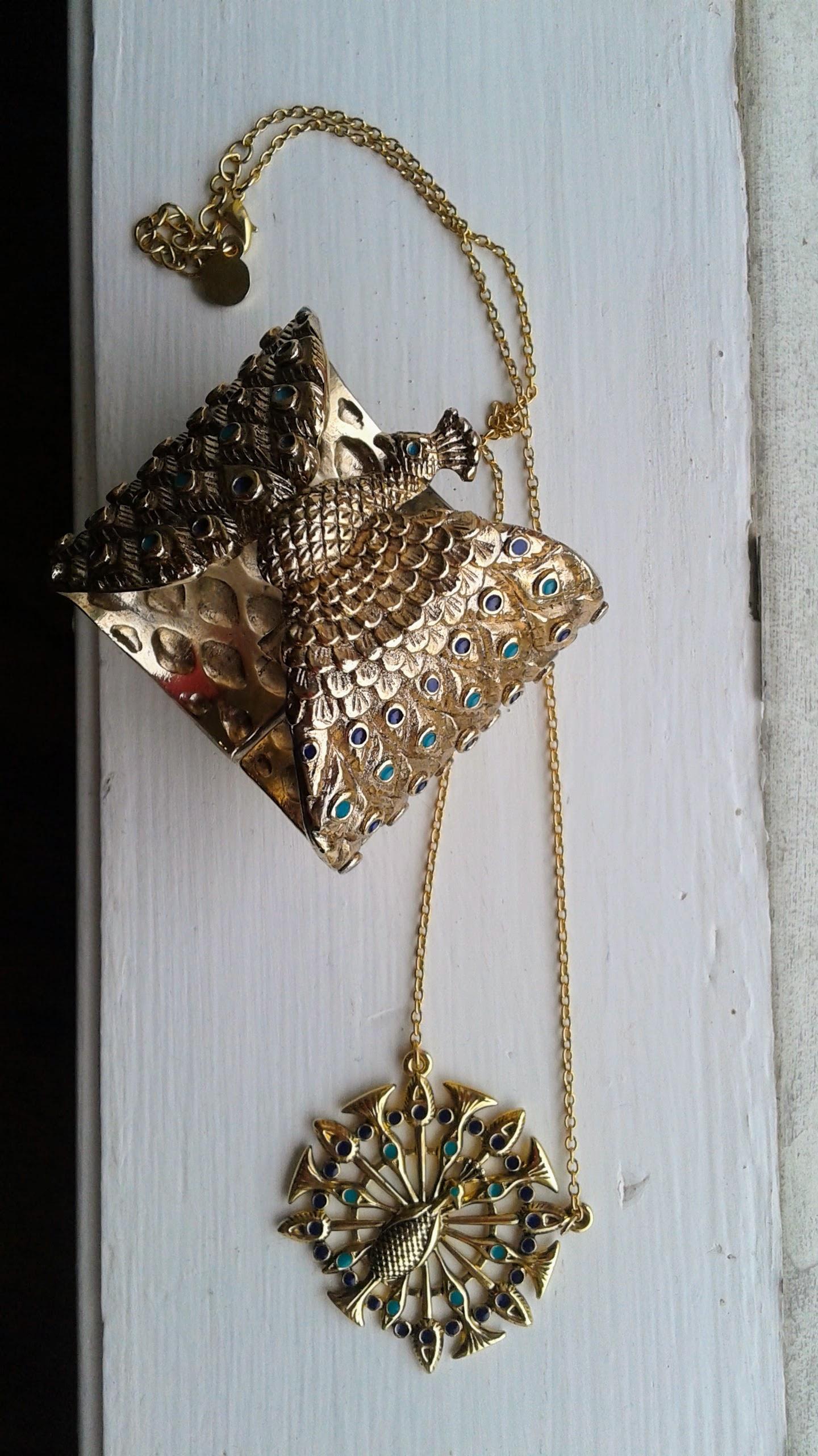Bracelet, $20; Necklace, $16
