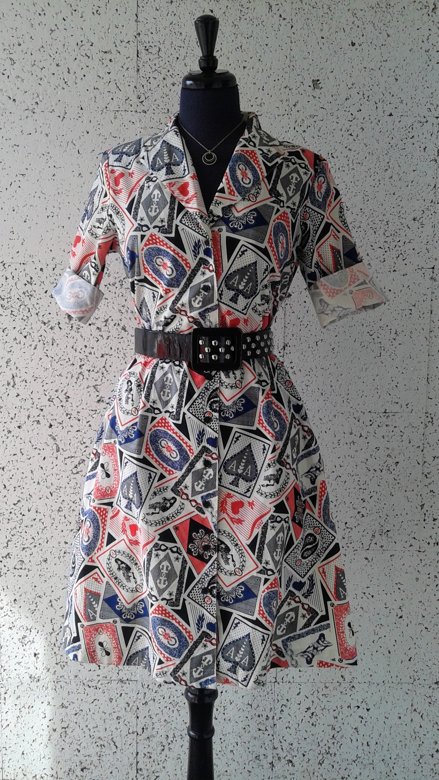 Fred Perry x Amy Winehouse Foundation dress; Size 10, $40. Betsy Johnson belt, $32