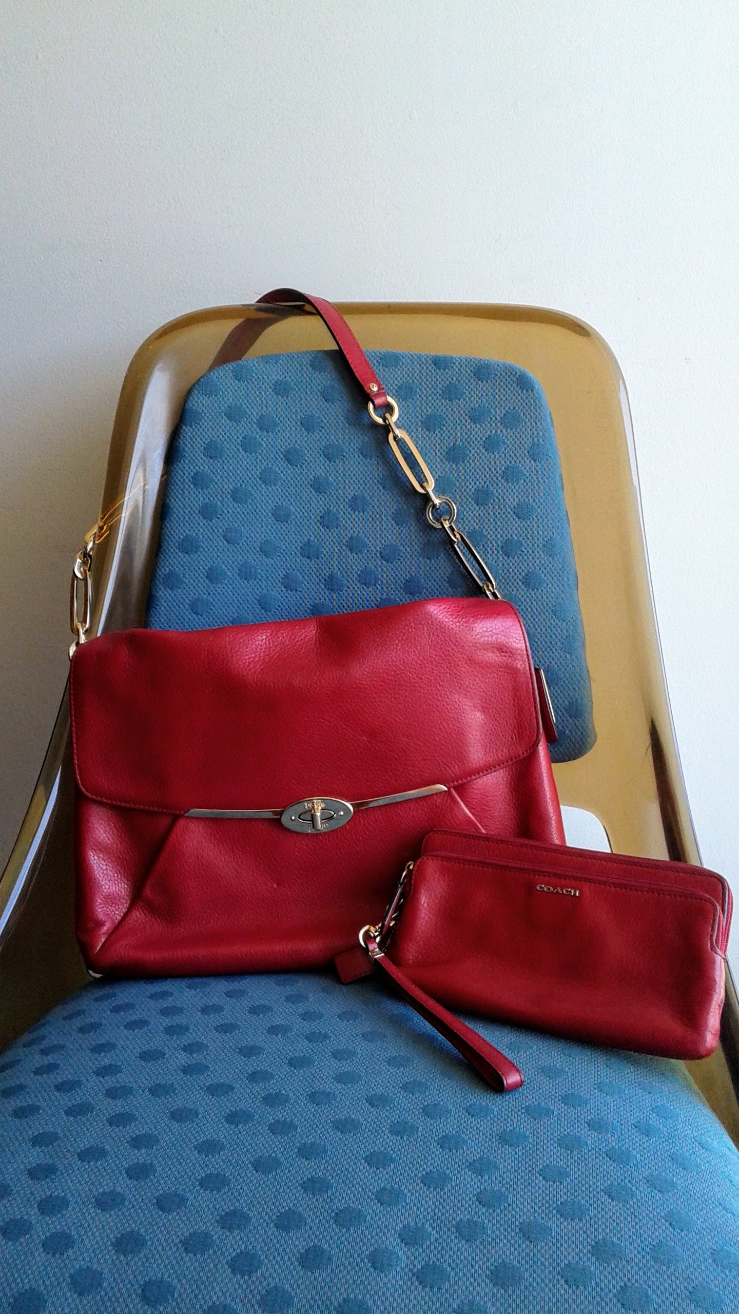 Coach purse and wallet set, $110