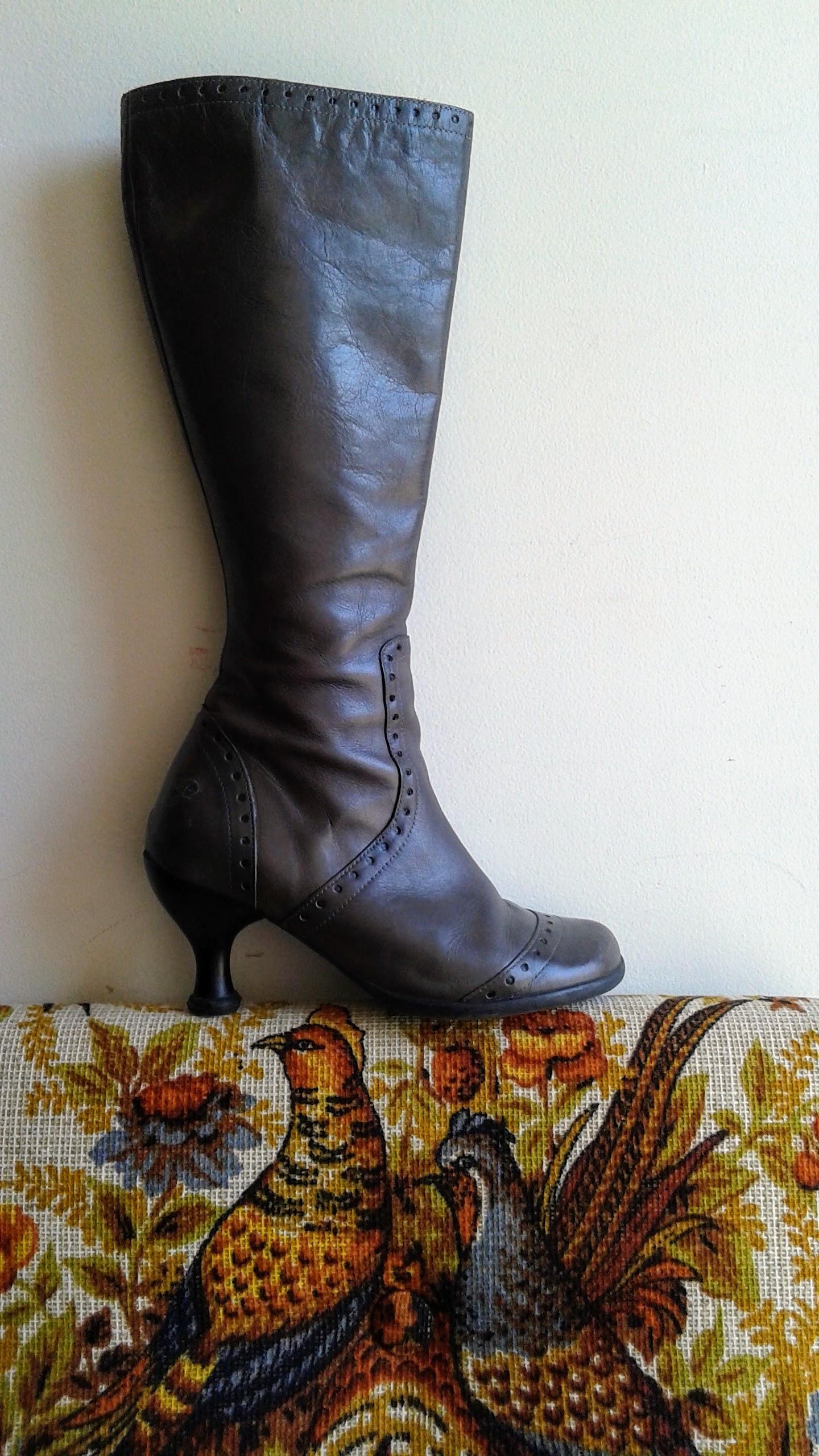 Fluevog boots; S7, $95