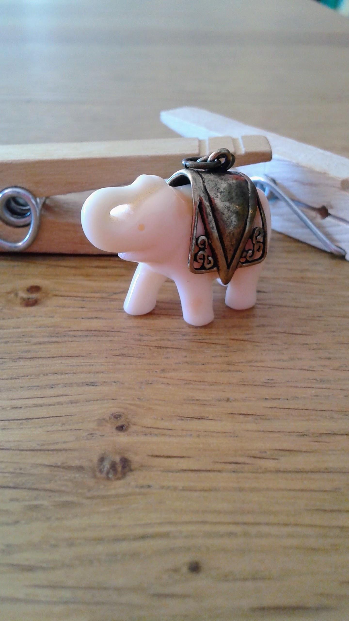 Elephant pendant, $12